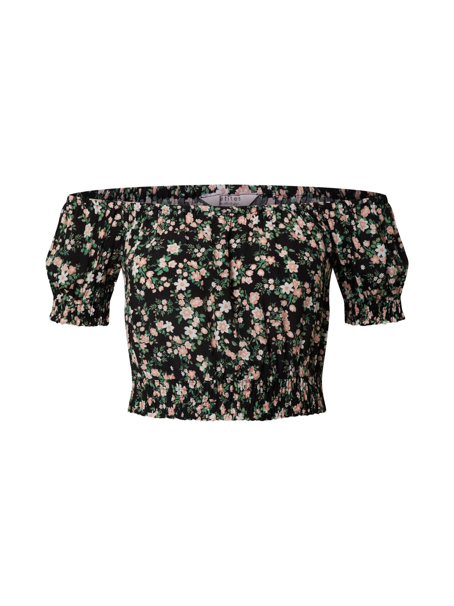Miss Selfridge (Petite) Palaidinė juoda / žalia / balta / ryškiai rožinė spalva