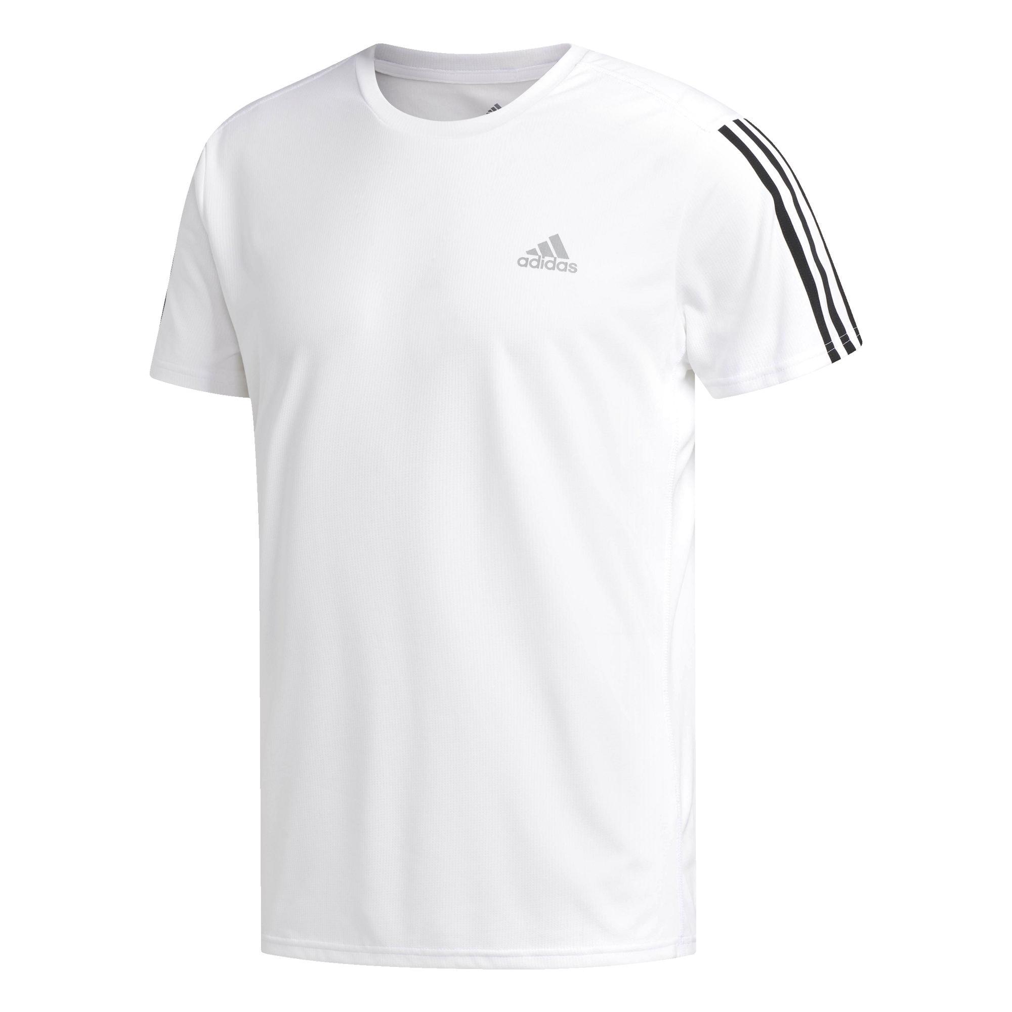 ADIDAS PERFORMANCE Funkcionális felső 'Running 3-Streifen'  fekete / fehér