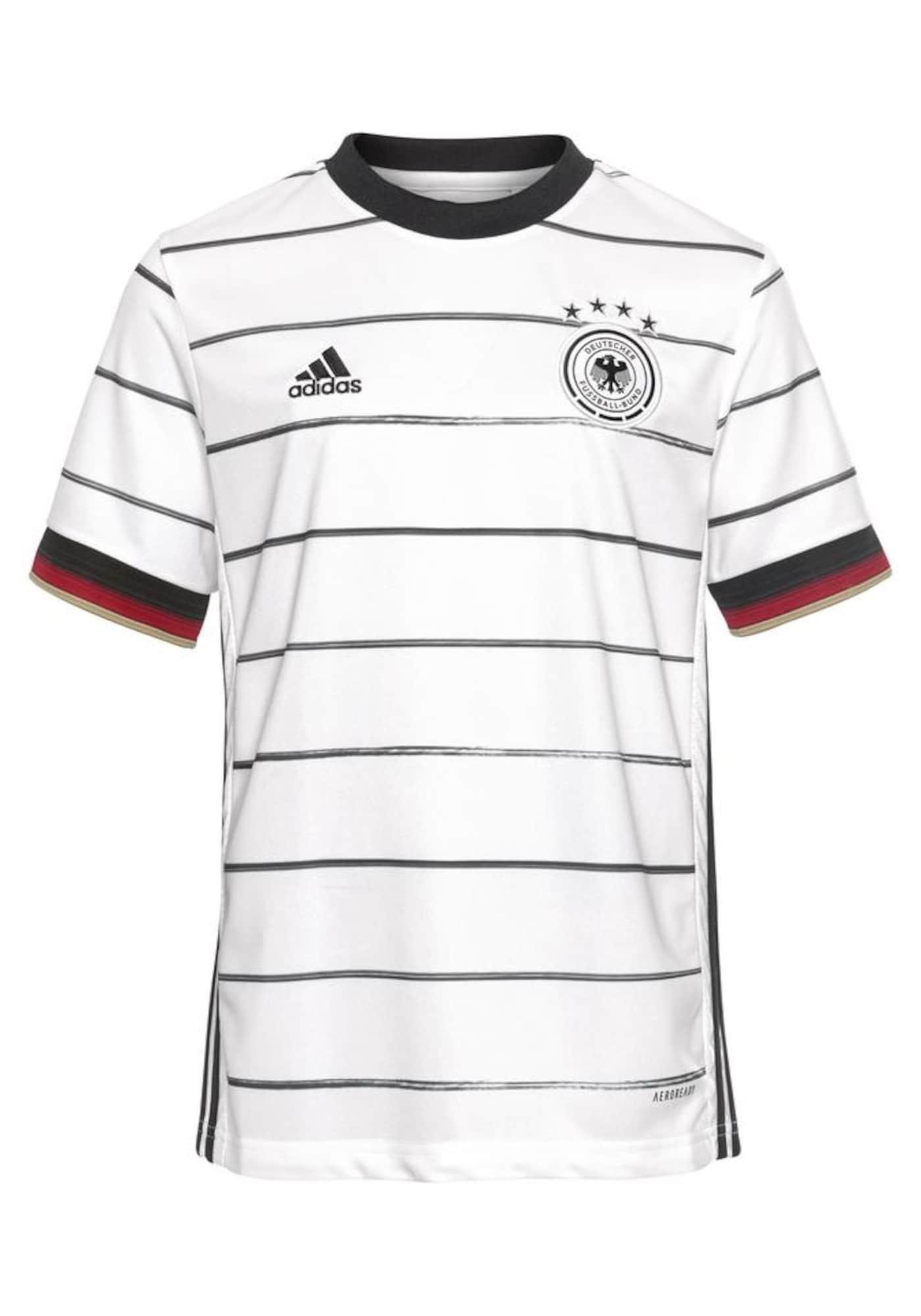 ADIDAS PERFORMANCE Sportiniai marškinėliai 'EM 2020 DFB' juoda / balta / tamsiai raudona