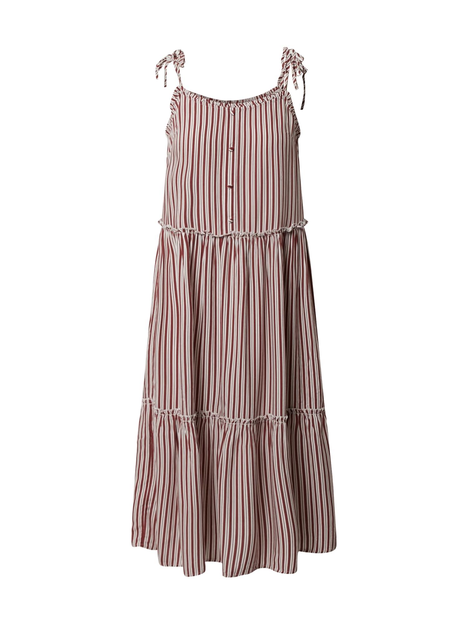 ONLY Letné šaty 'ONLFABULOUS STRAP MIDI DRESS WVN'  šedobiela / červené