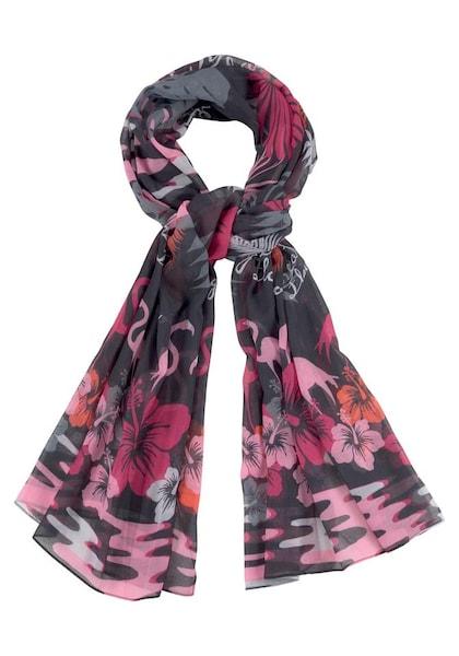 Schals für Frauen - J. Jayz Modeschal dunkelgrau cyclam hellpink orangerot schwarz  - Onlineshop ABOUT YOU