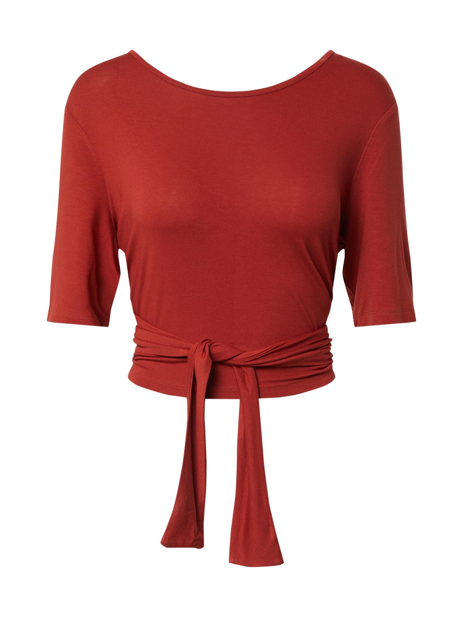 PIECES Tričko 'PCNEORA'  červené