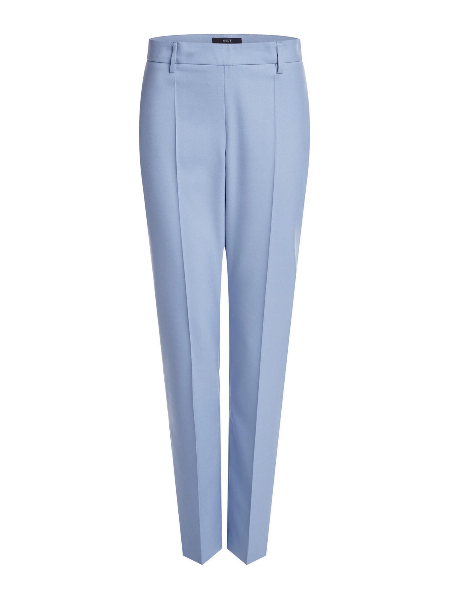 SET Kelnės su kantu šviesiai mėlyna