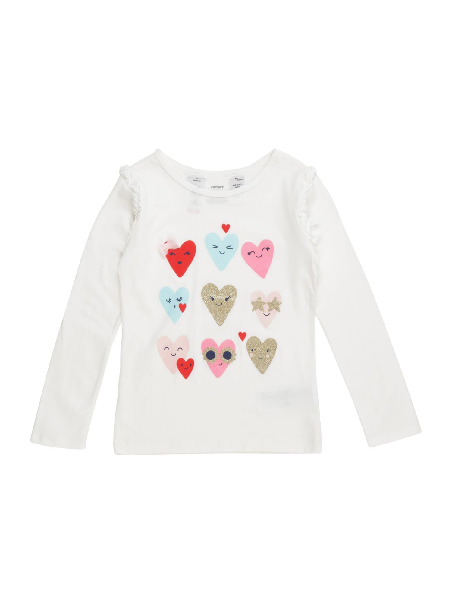 Carter's Marškinėliai 'multi heart' kiaušinio lukšto spalva