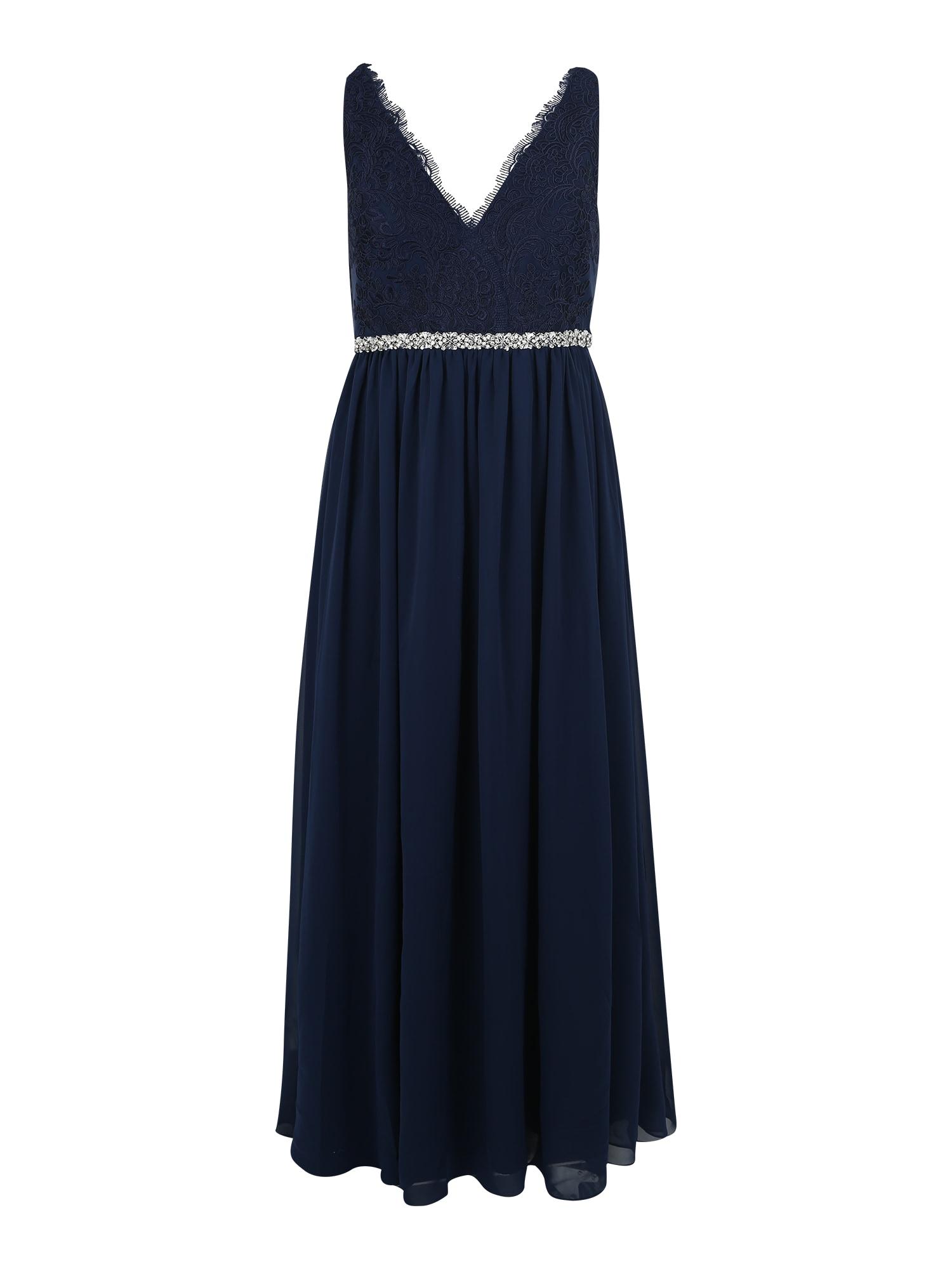 My Mascara Curves Večerné šaty 'LACE SHOULDER'  námornícka modrá