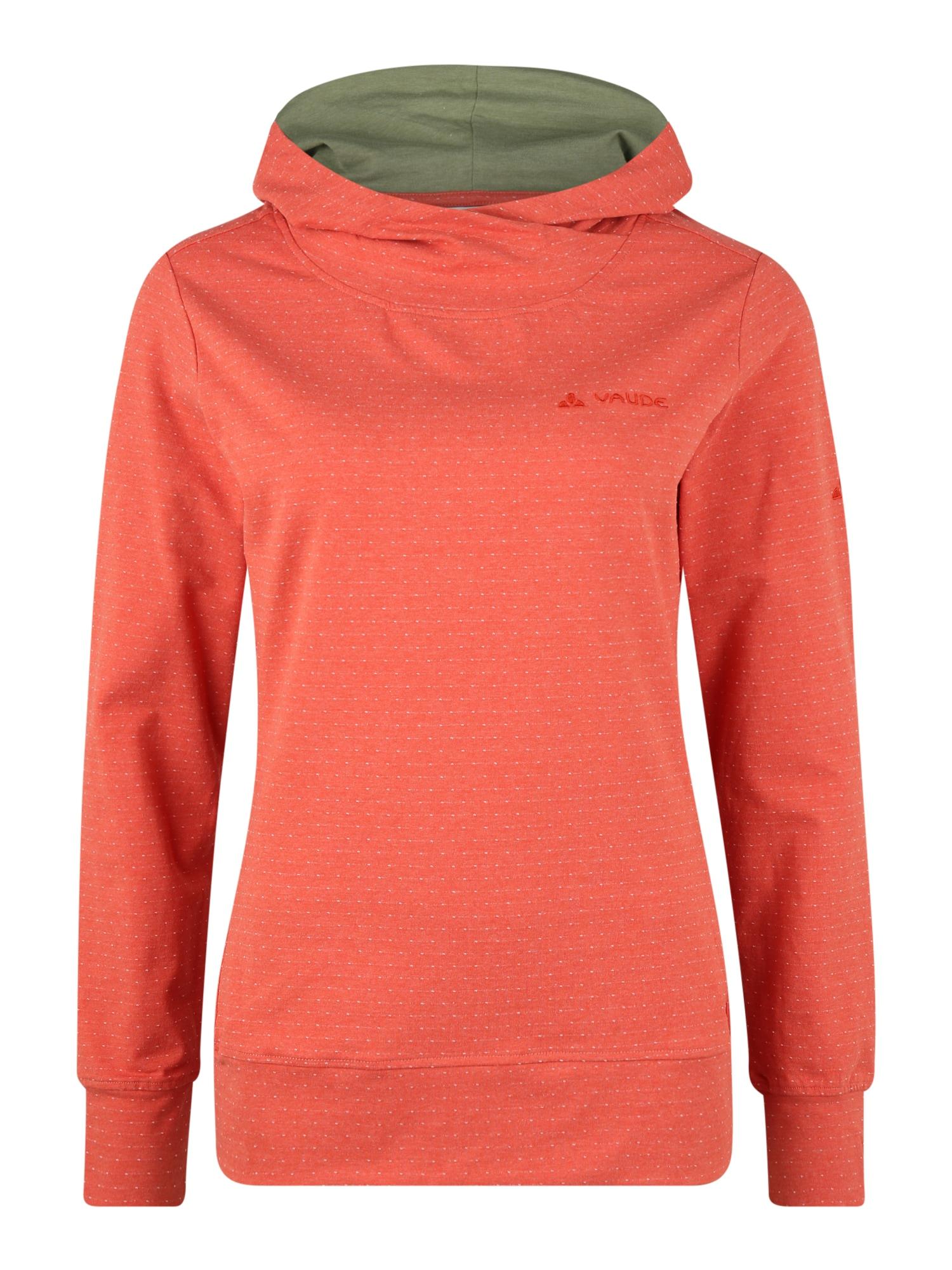 VAUDE Sportinio tipo megztinis 'Tuenno' šviesiai raudona / raudona