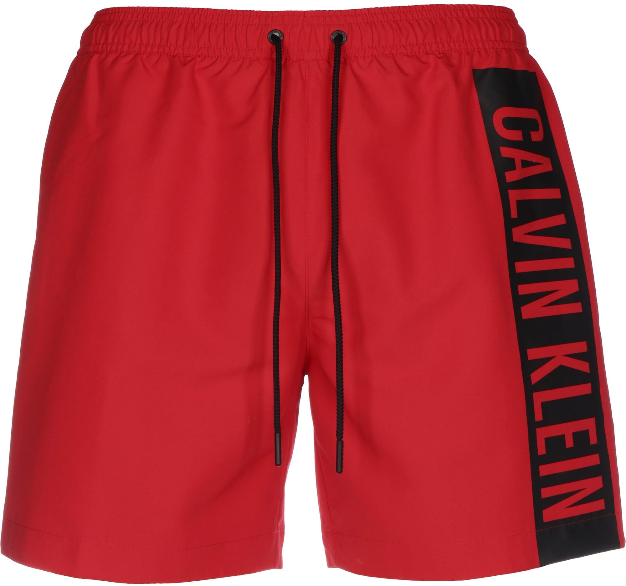 Calvin Klein Swimwear Maudymosi trumpikės 'Intense Power' juoda / raudona