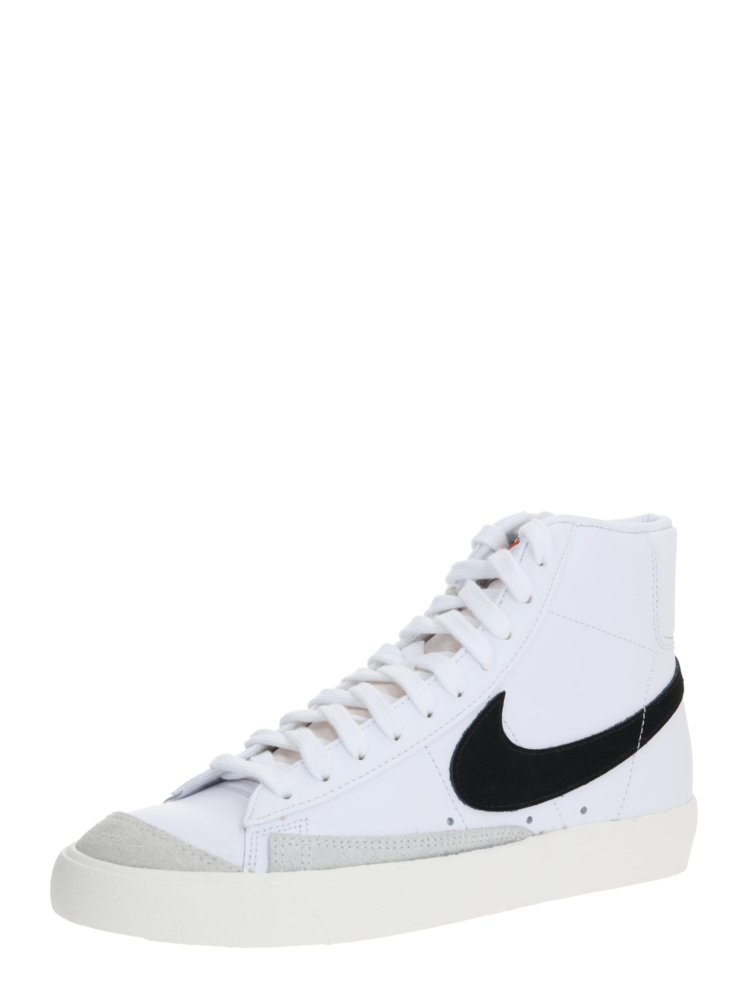 Nike Sportswear Sportbačiai su auliuku 'Blazer Mid 77 Vintage' balta / juoda