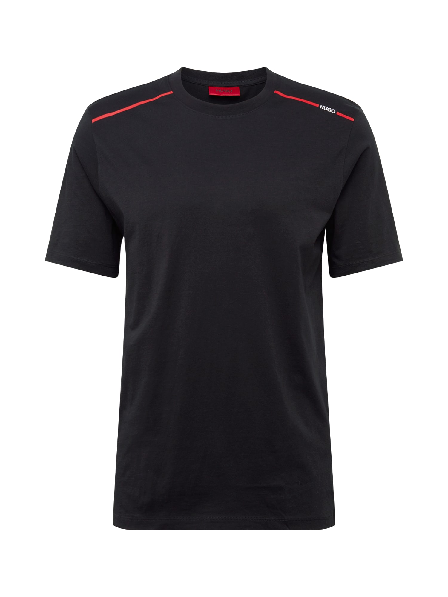 HUGO Tričko 'Dyrtid'  čierna / červené / biela
