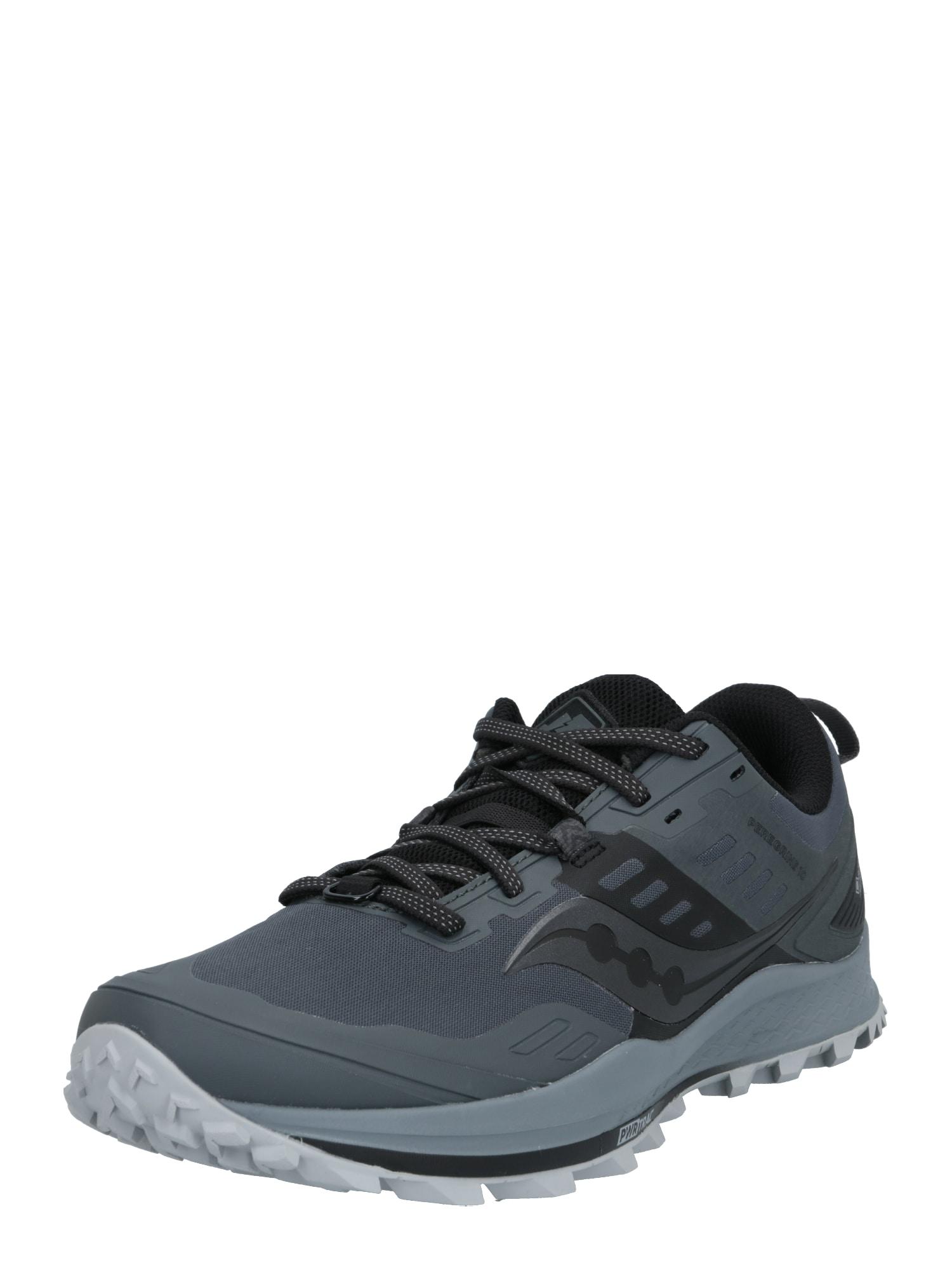 saucony Bežecká obuv 'PEREGRINE 10 GTX '  čierna / sivá