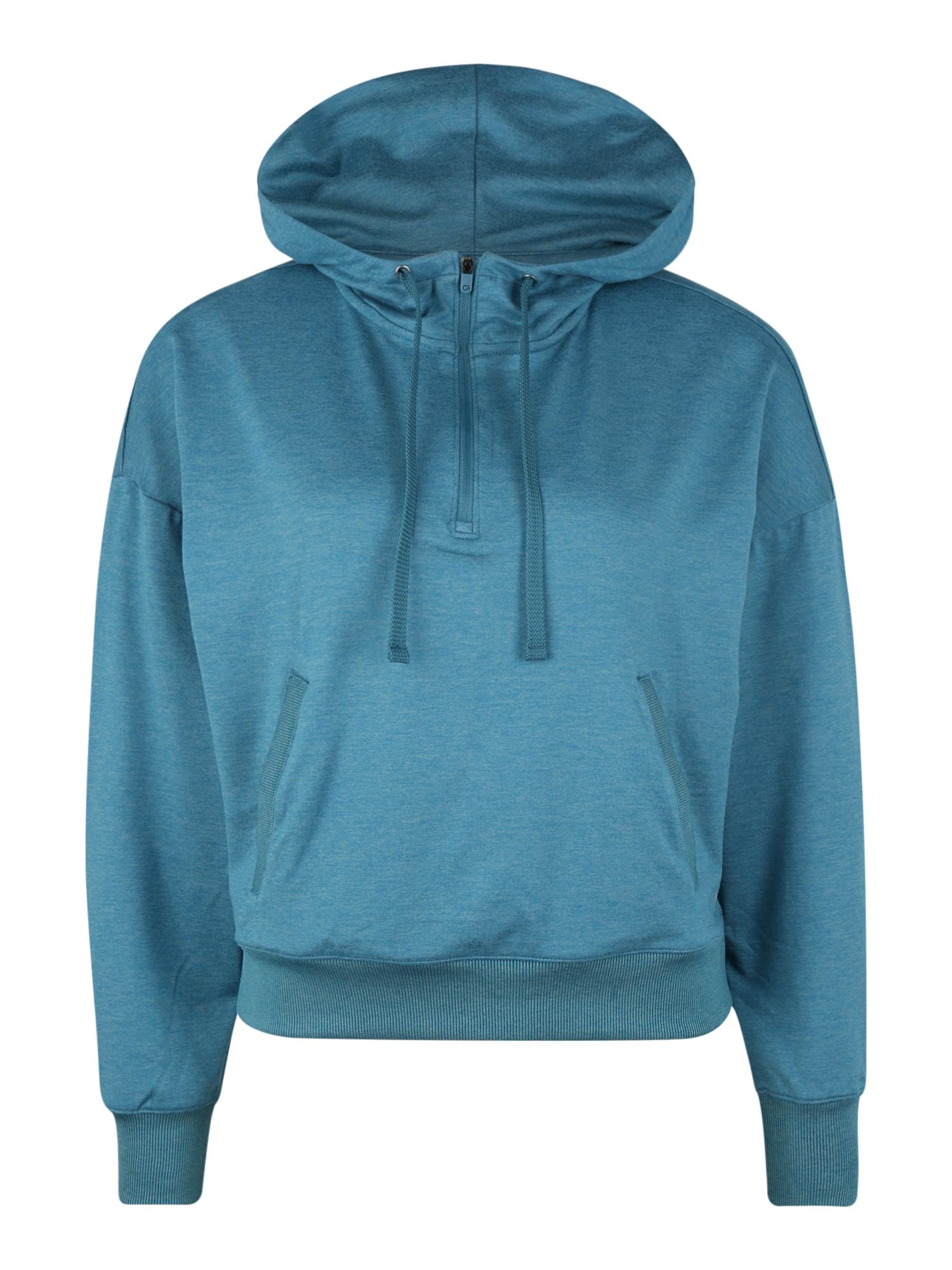 GAP Sportinio tipo megztinis 'BRUSHED JERSEY' mėlyna