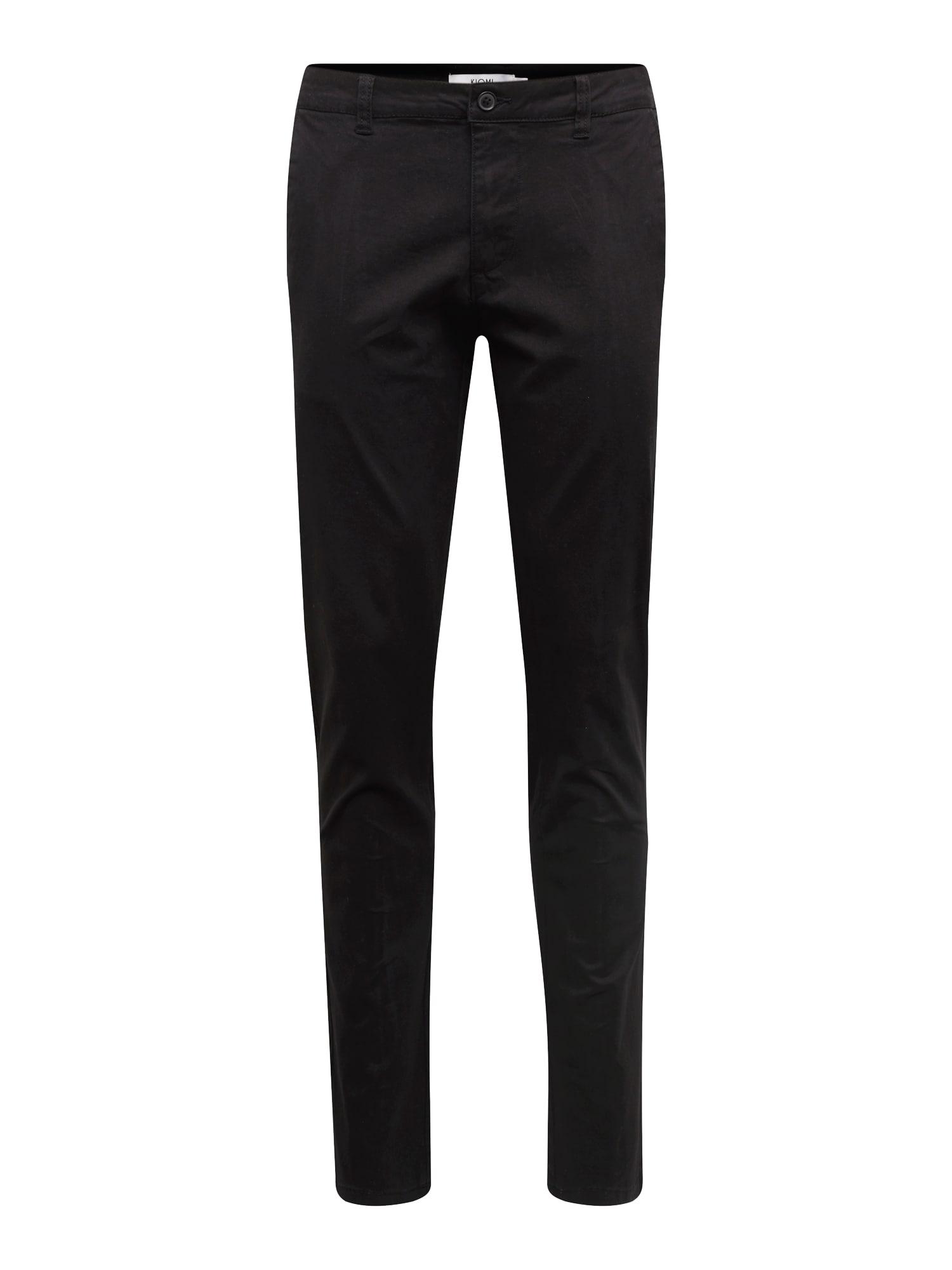 Chino kalhoty KM-BAS0-0503 černá KIOMI