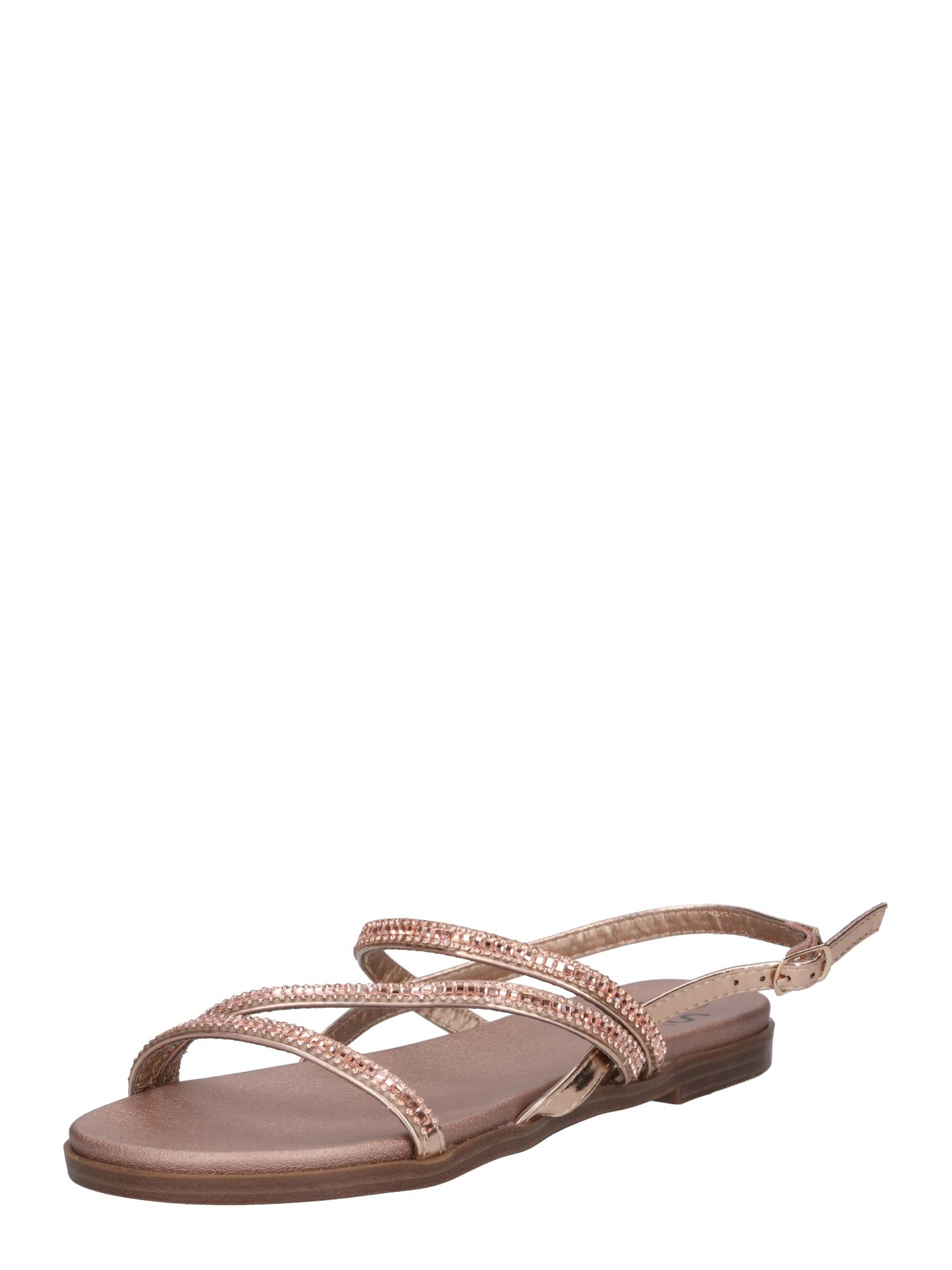 Páskové sandály zlatá růže H.I.S