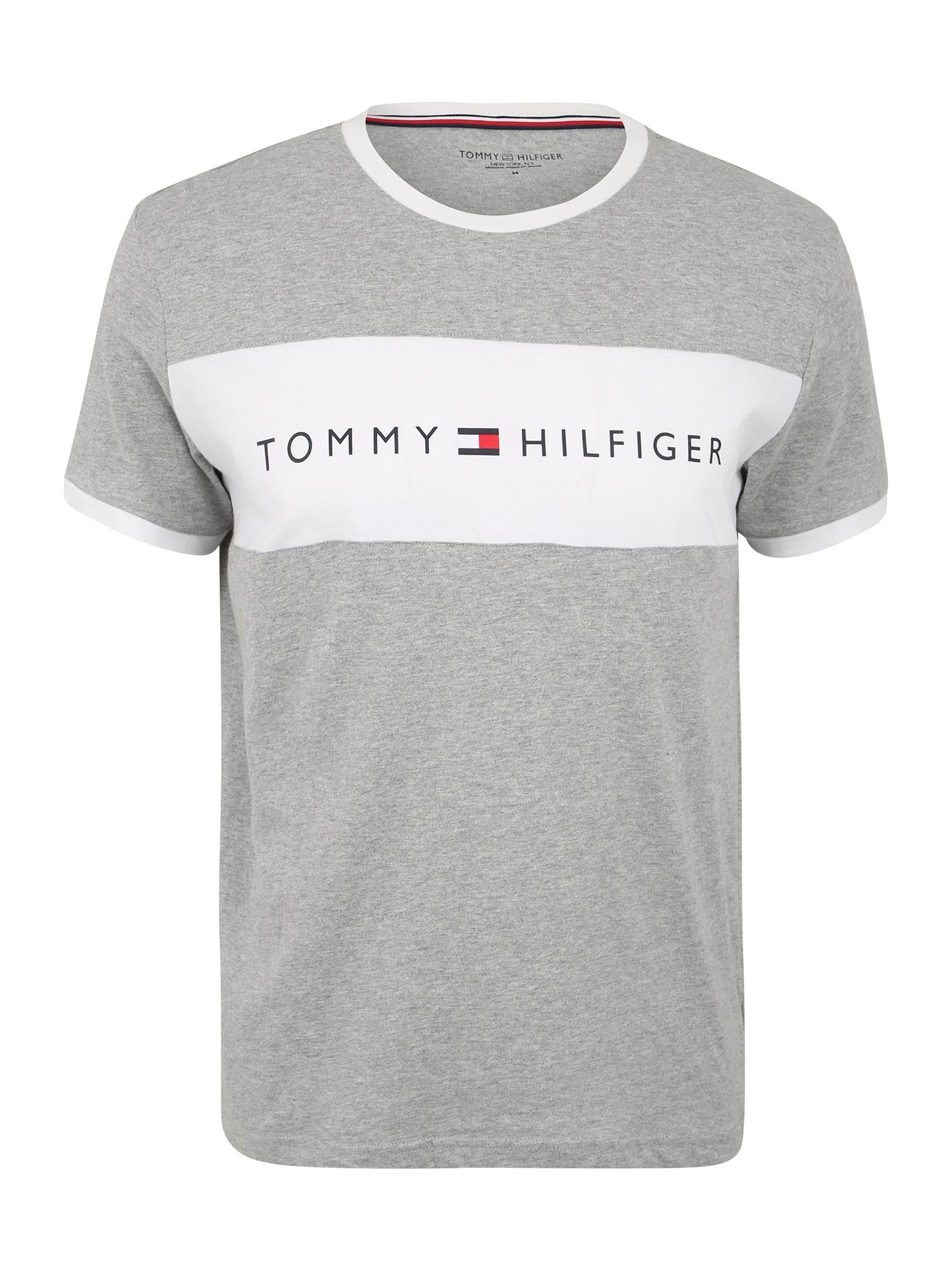 Tommy Hilfiger Underwear Trumpa pižama balta / pilka