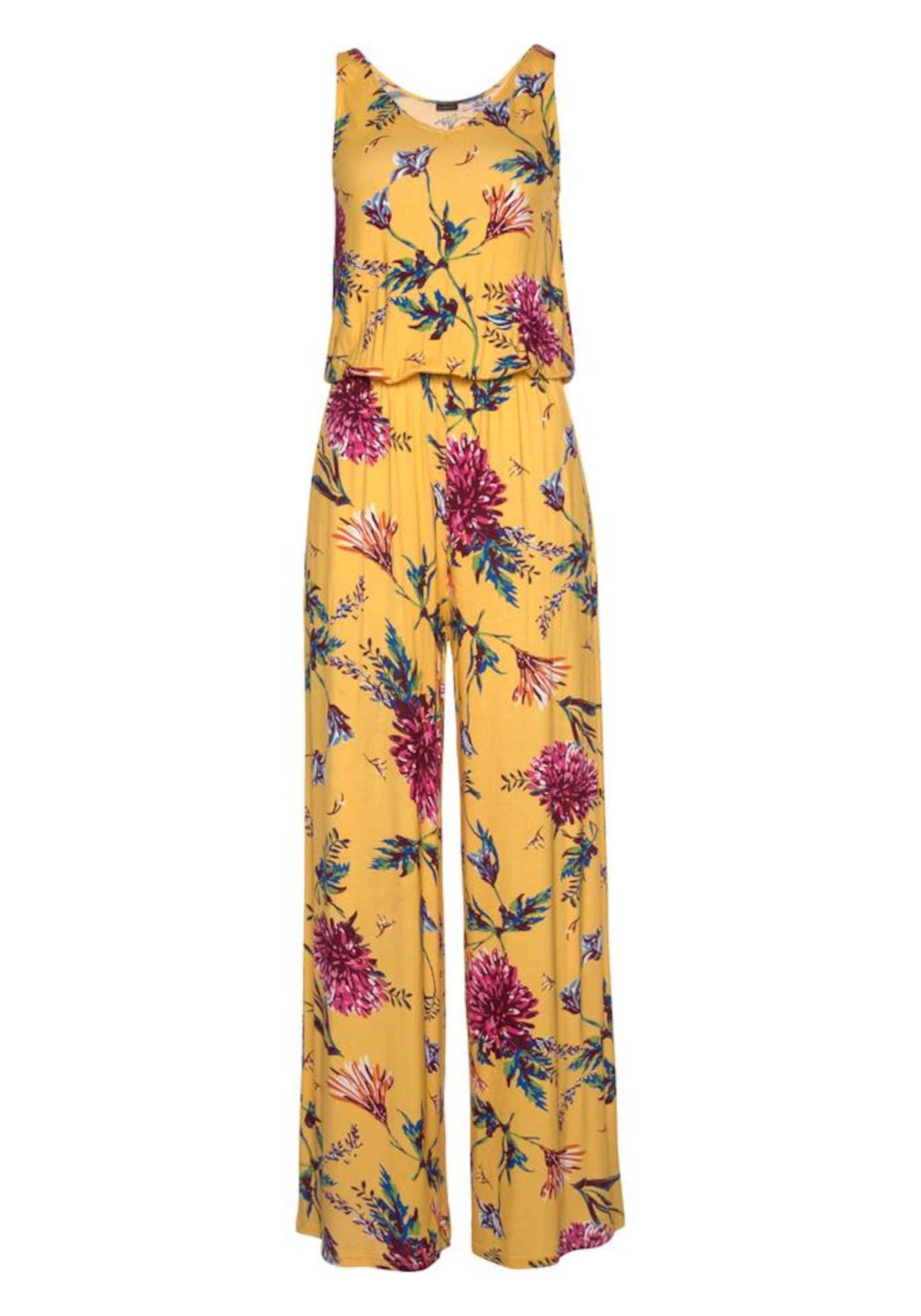 BUFFALO Vienos dalies kostiumas mėlyna / geltona / tamsiai rožinė