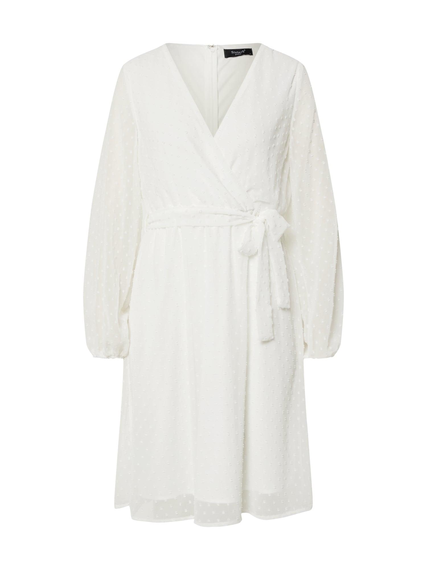 SISTERS POINT Kokteilinė suknelė balta