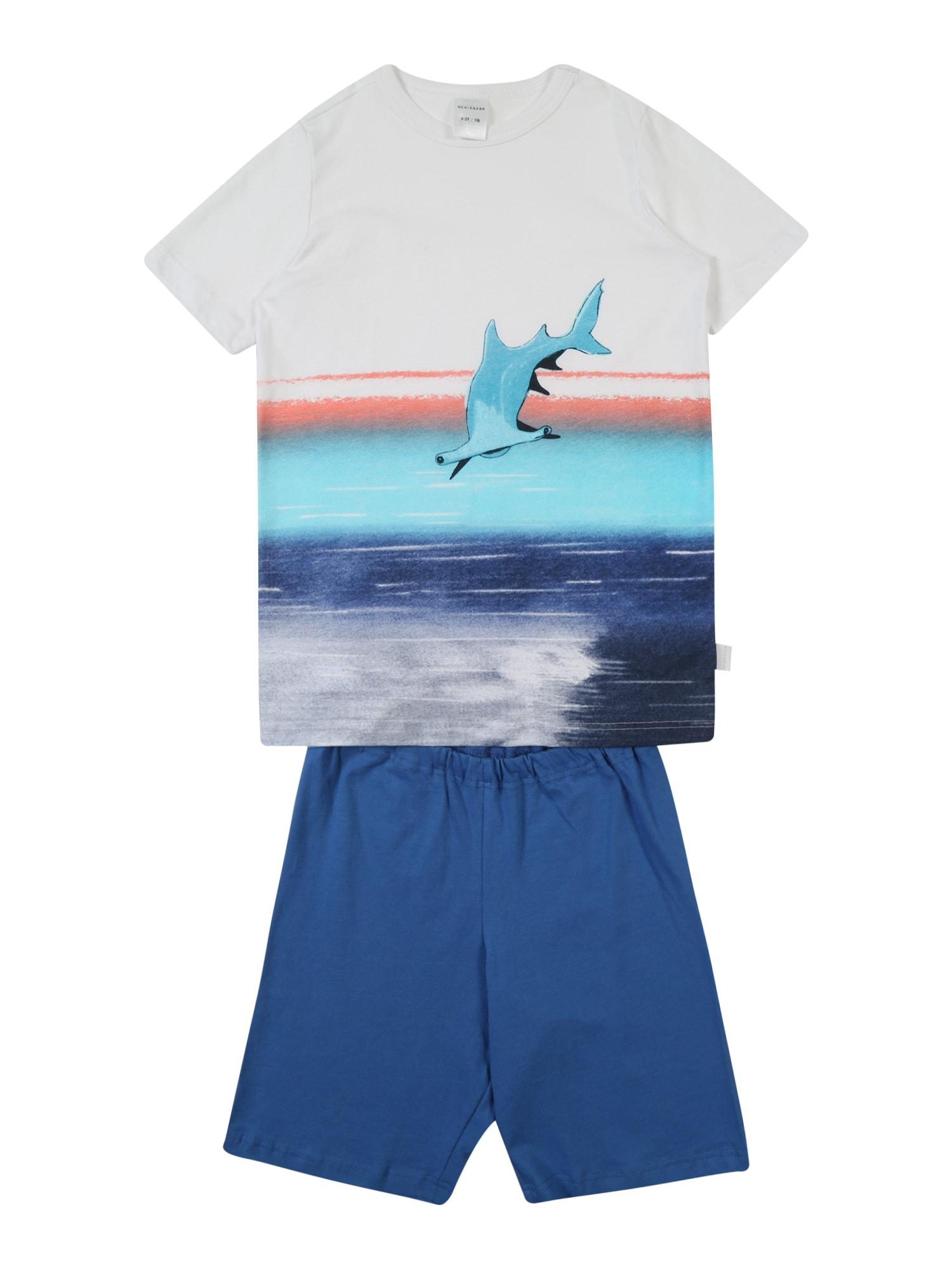 Pyžamo modrá bílá SCHIESSER
