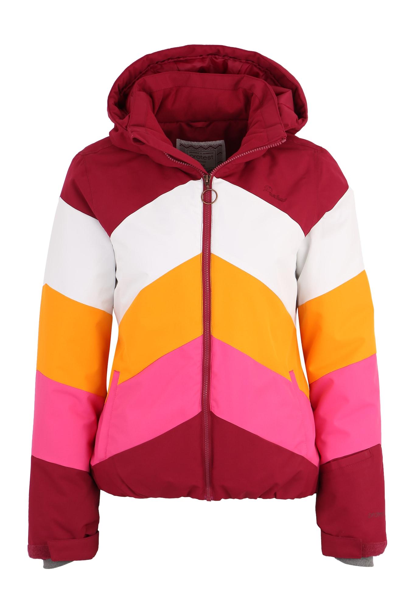 Sportovní bunda Bellini bobule jasně oranžová pink bílá PROTEST