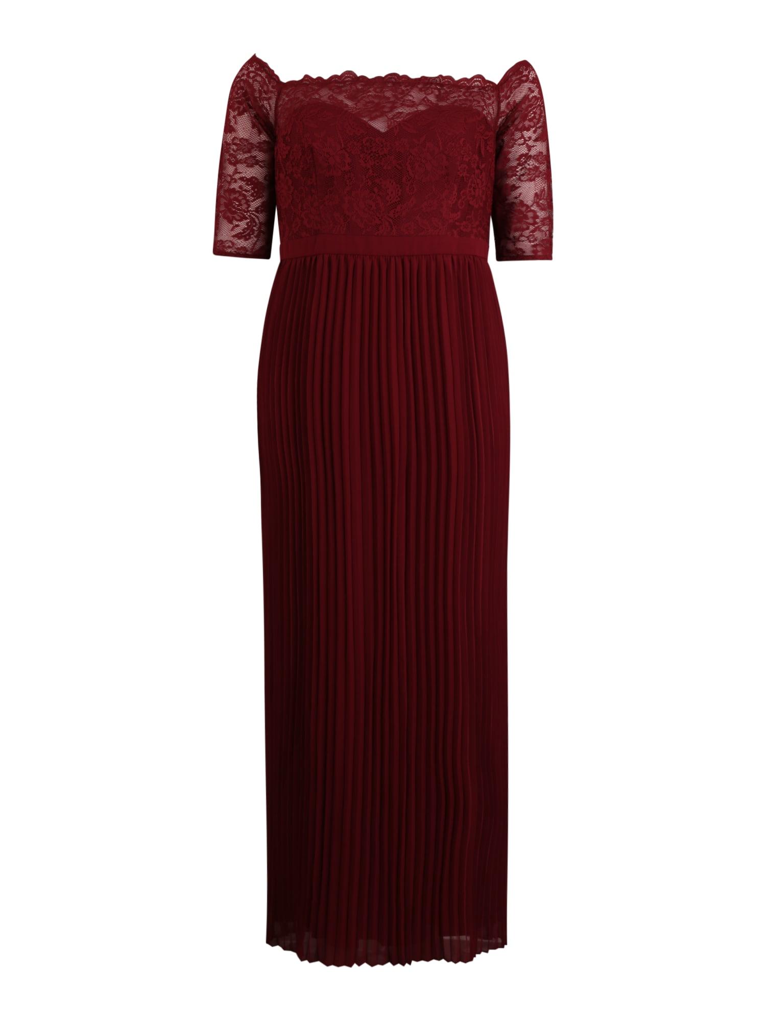 Chi Chi Curve Vakarinė suknelė 'Whitely' burgundiško vyno spalva