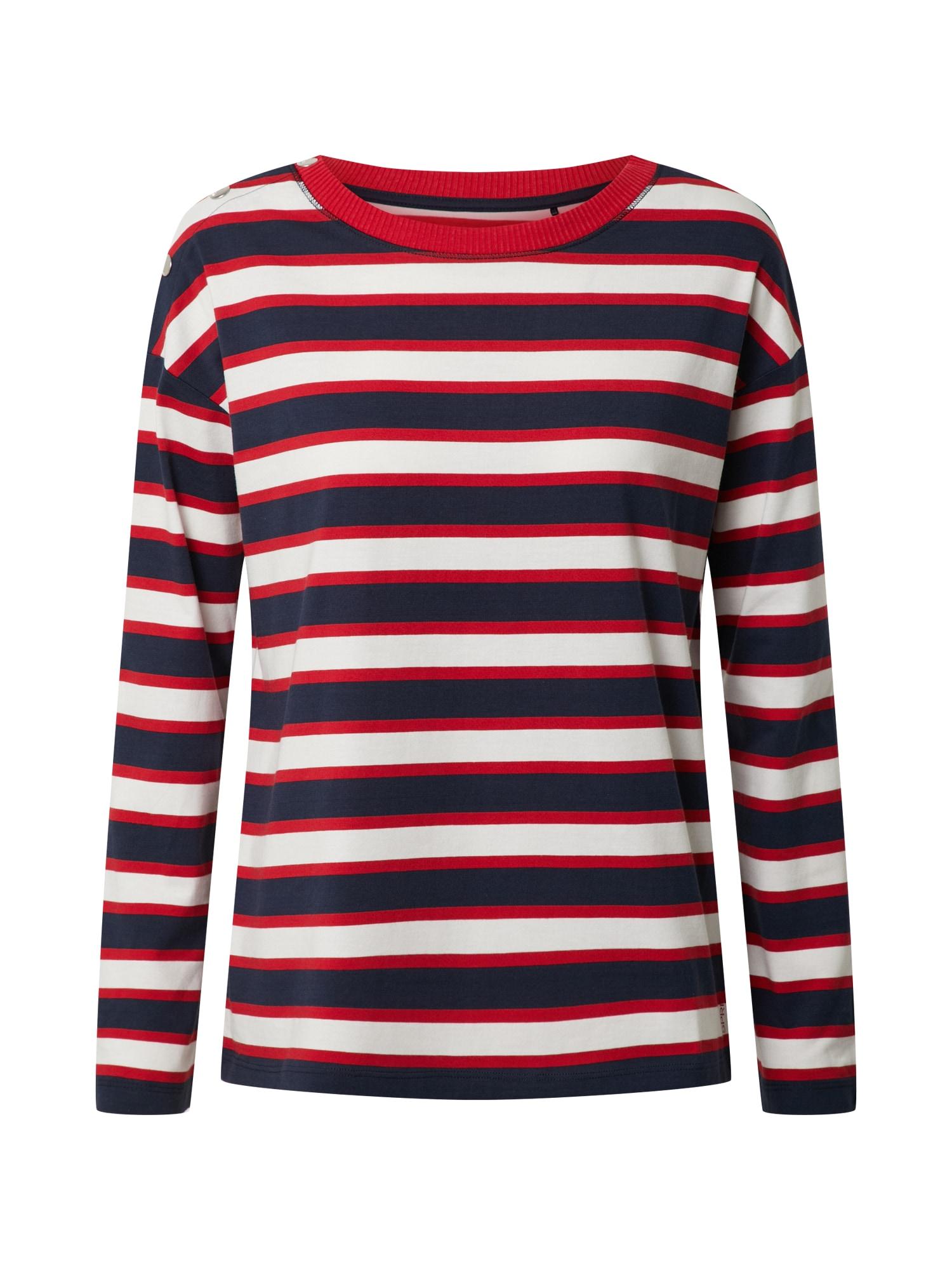 ESPRIT Megztinis be užsegimo tamsiai mėlyna / raudona