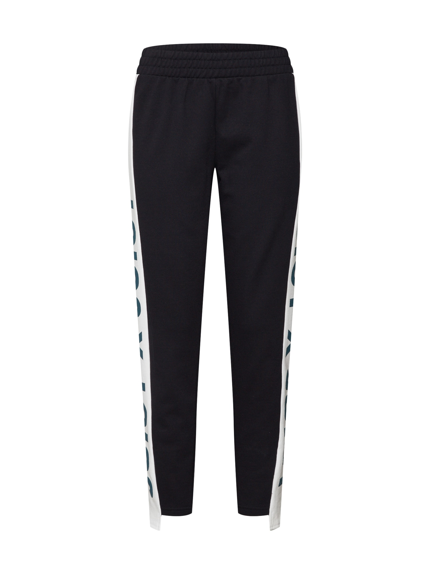 Kalhoty Side Panel Terry Track černá bílá Juicy By Juicy Couture