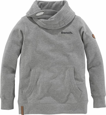 BENCH Sweatshirt Melange-Optik