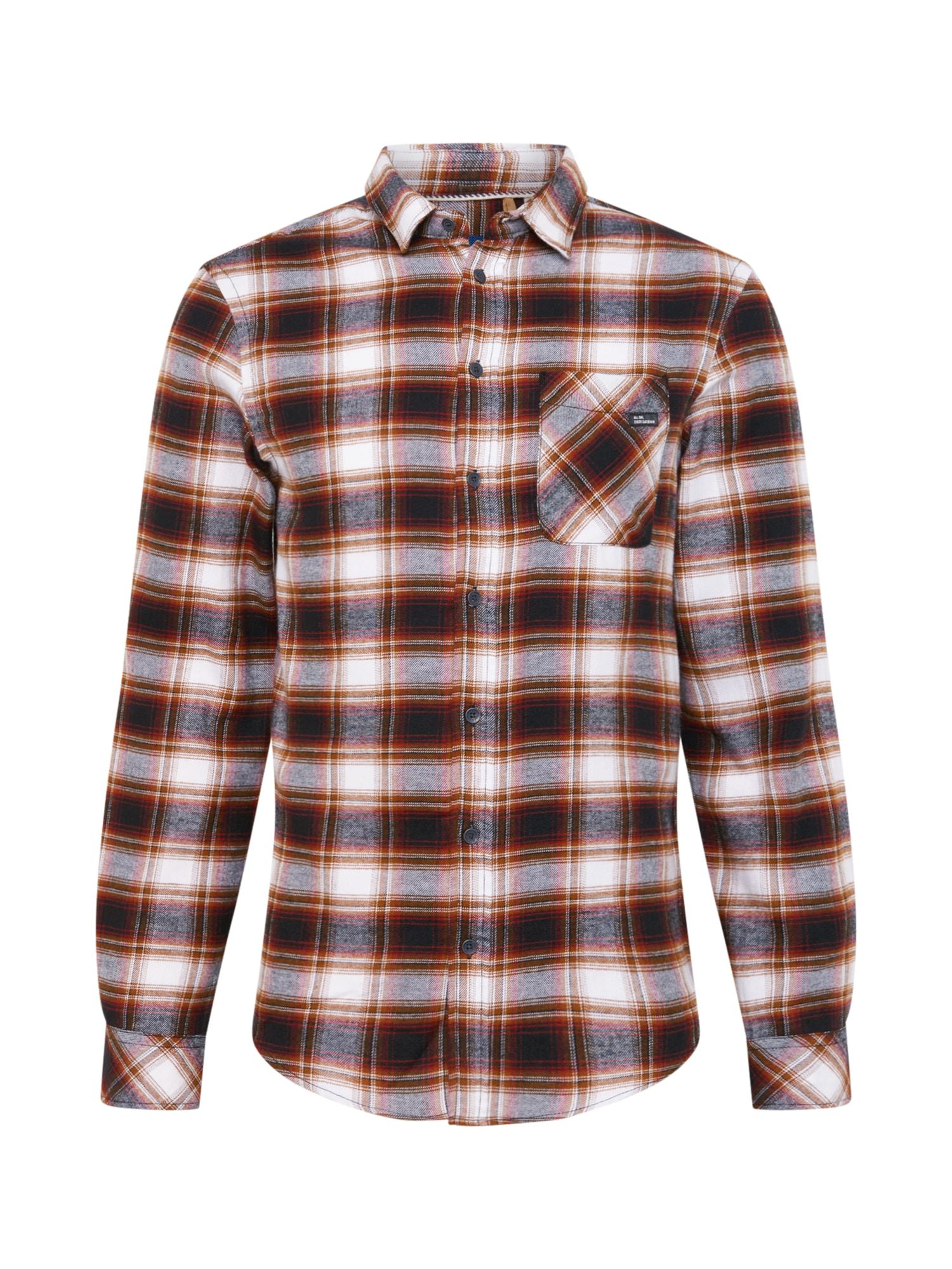 BLEND Marškiniai balta / ruda