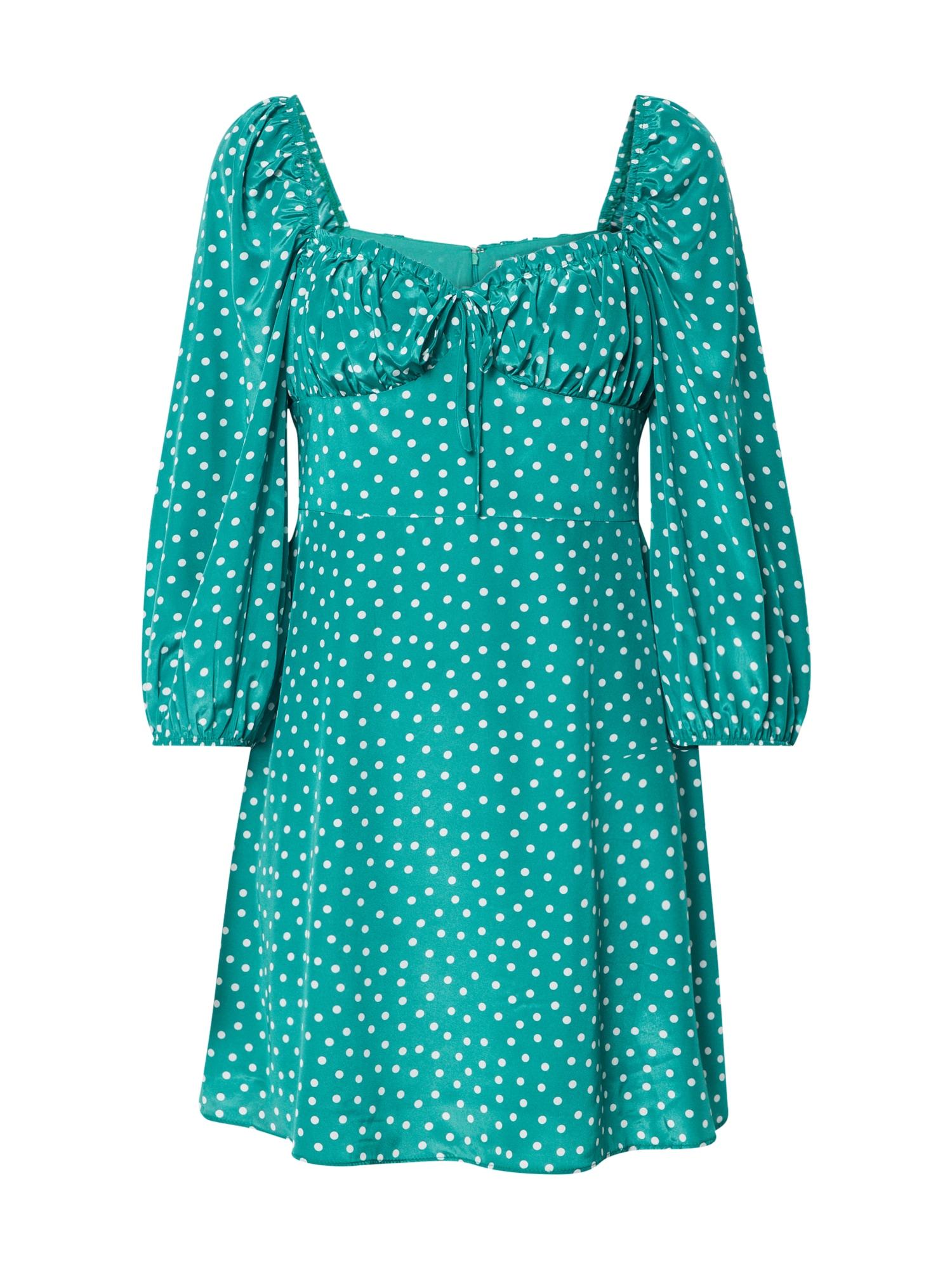 GLAMOROUS Vasarinė suknelė žalia / balta