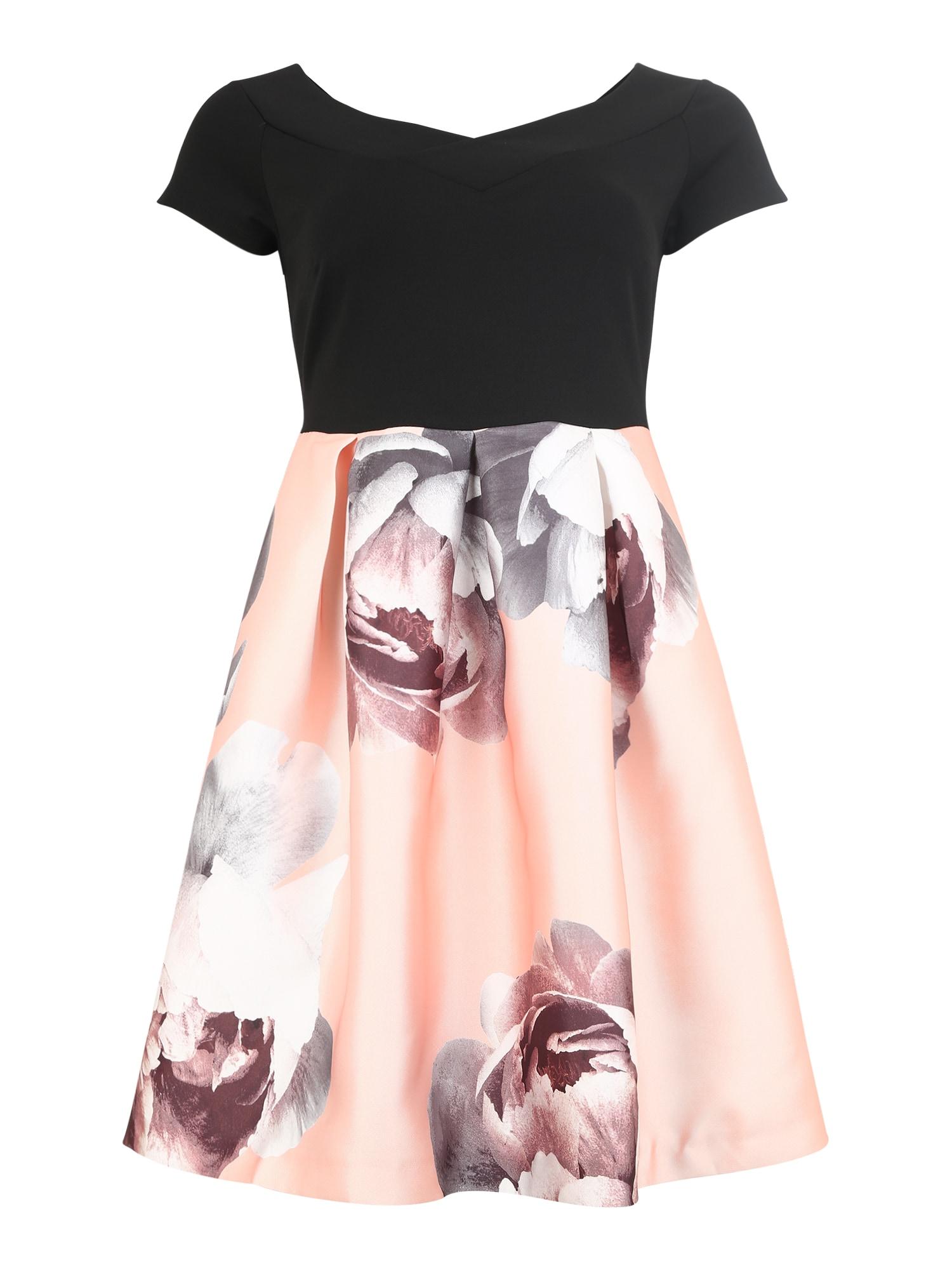 Koktejlové šaty růžová černá Anna Field Curvy
