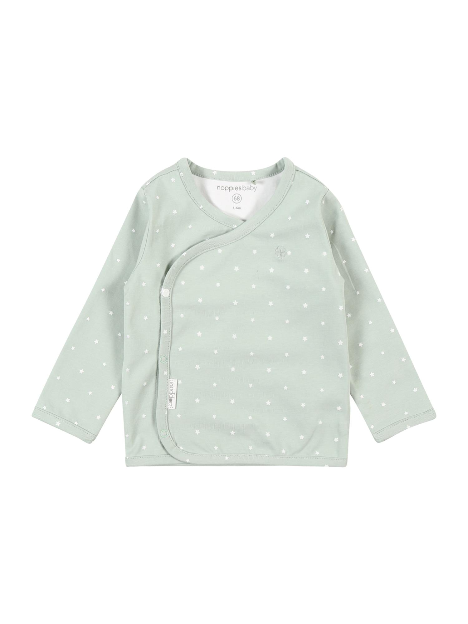 Noppies Marškinėliai mėtų spalva / balta