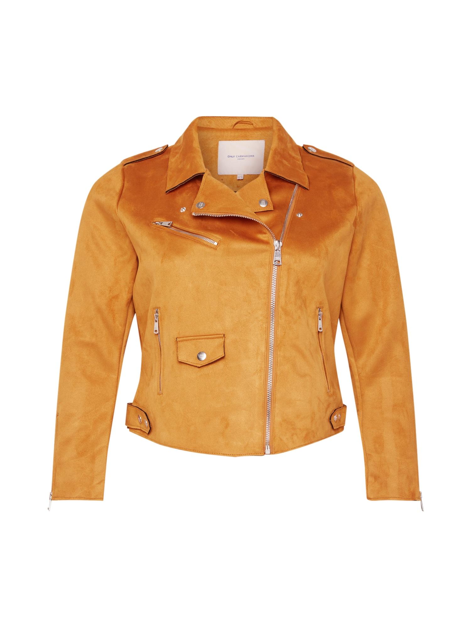 ONLY Carmakoma Demisezoninė striukė oranžinė