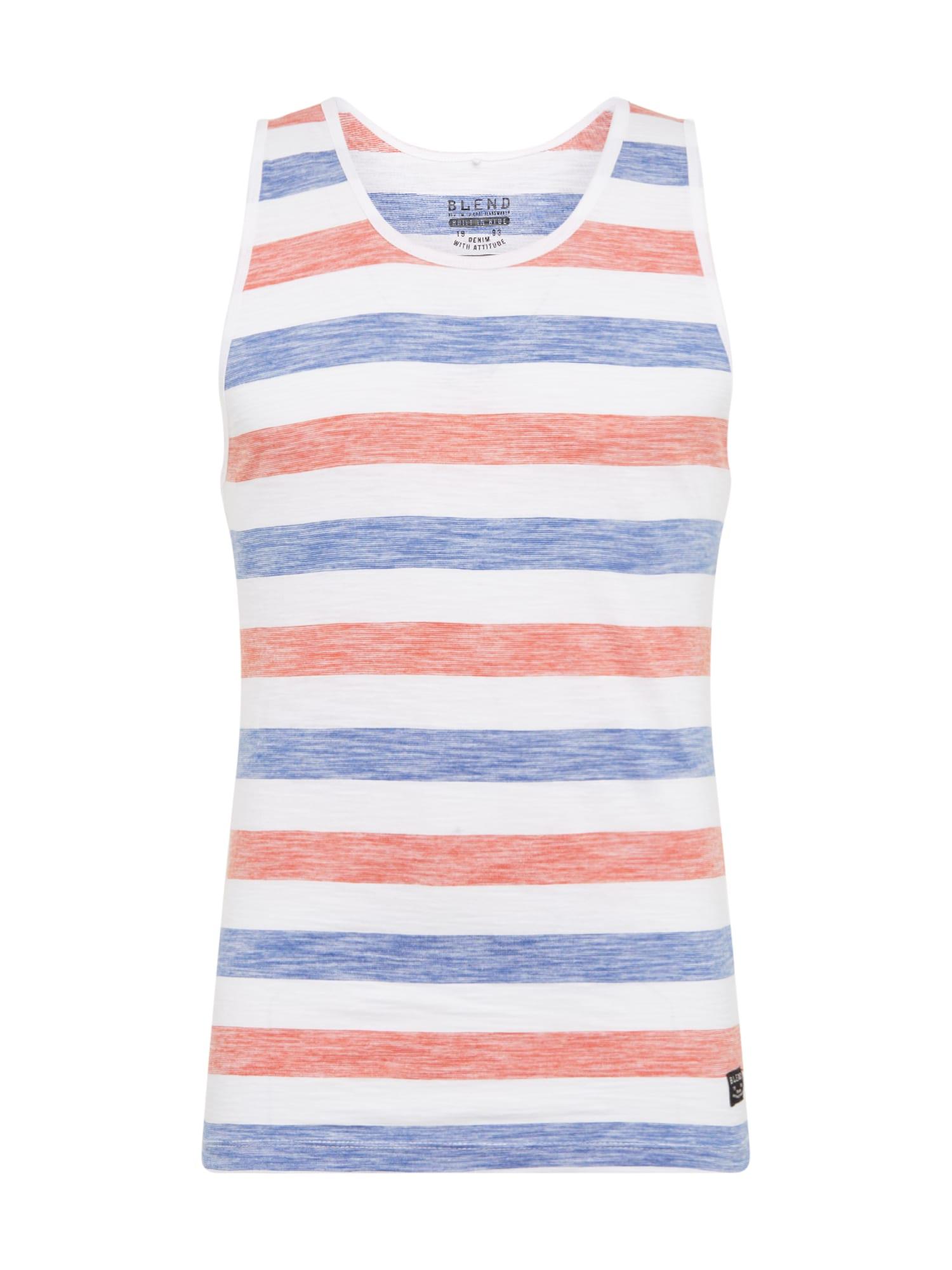BLEND Marškinėliai mėlyna / raudona / balta