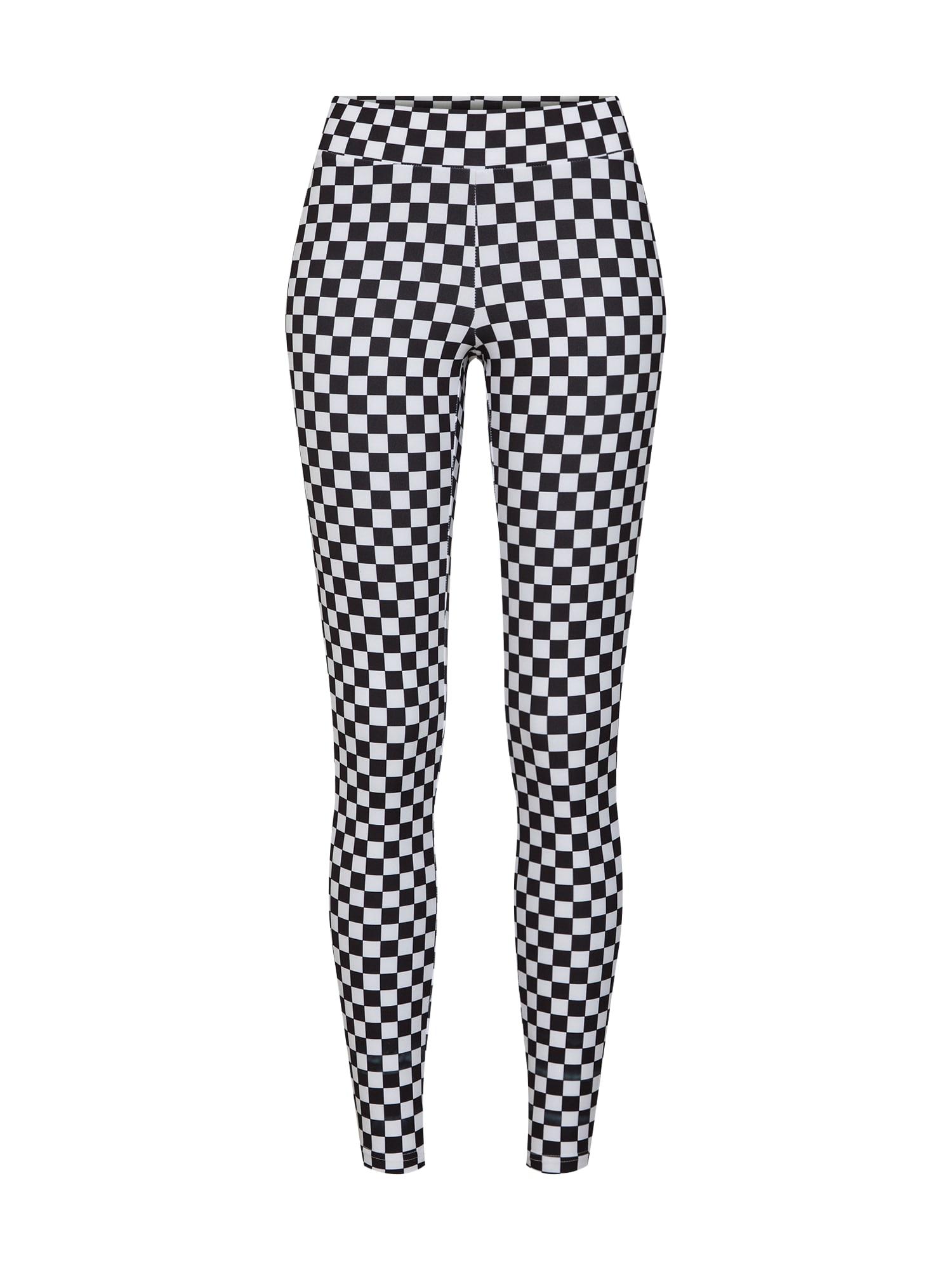 Urban Classics Leggings 'Check Pattern'  negru / alb