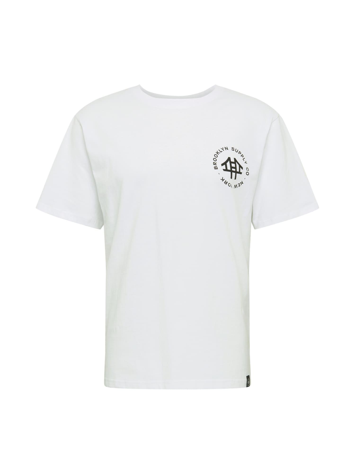 Brooklyn Supply Co. Marškinėliai balta / juoda