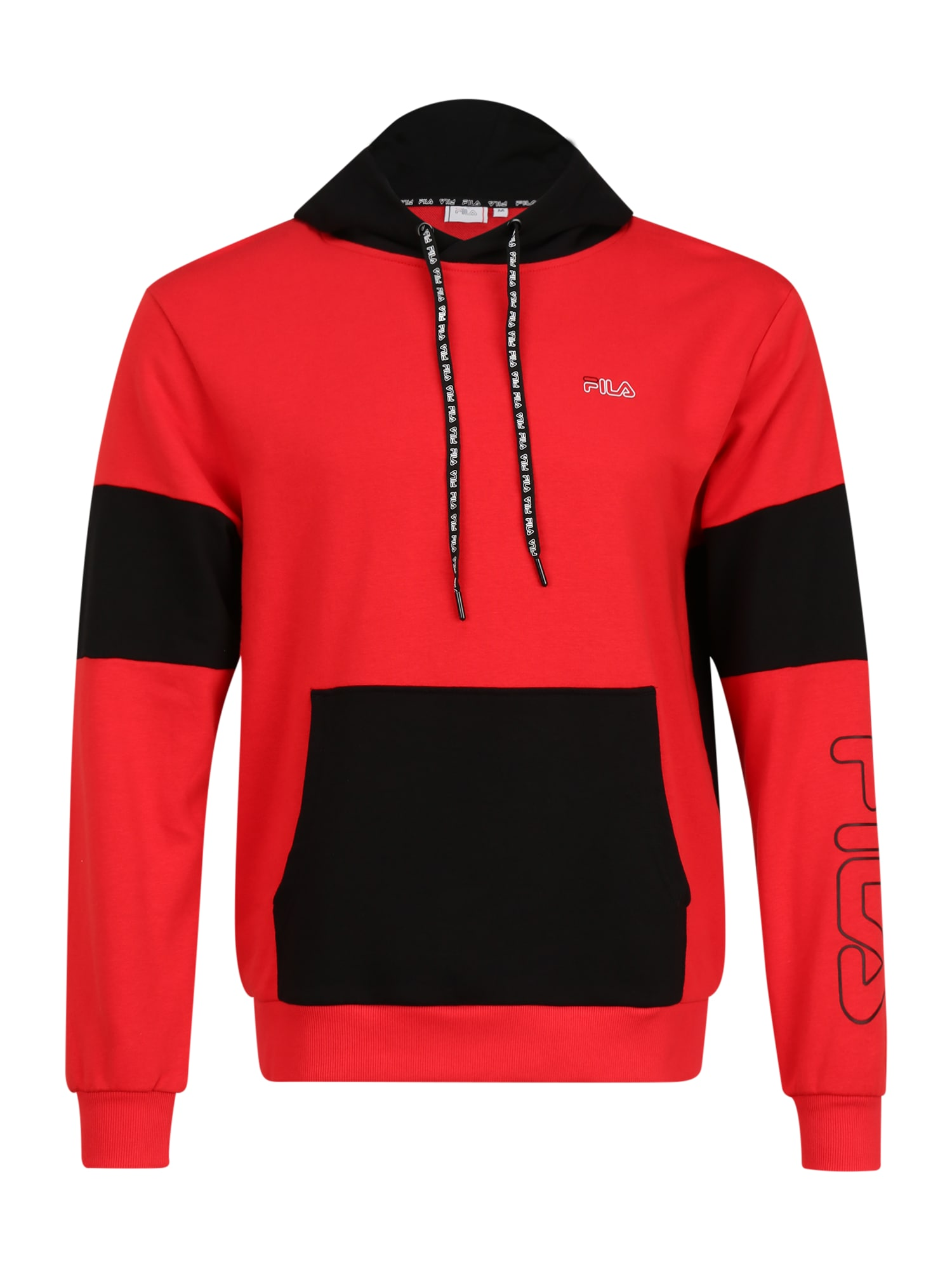 FILA Sportinio tipo megztinis 'Lawrence' juoda / raudona