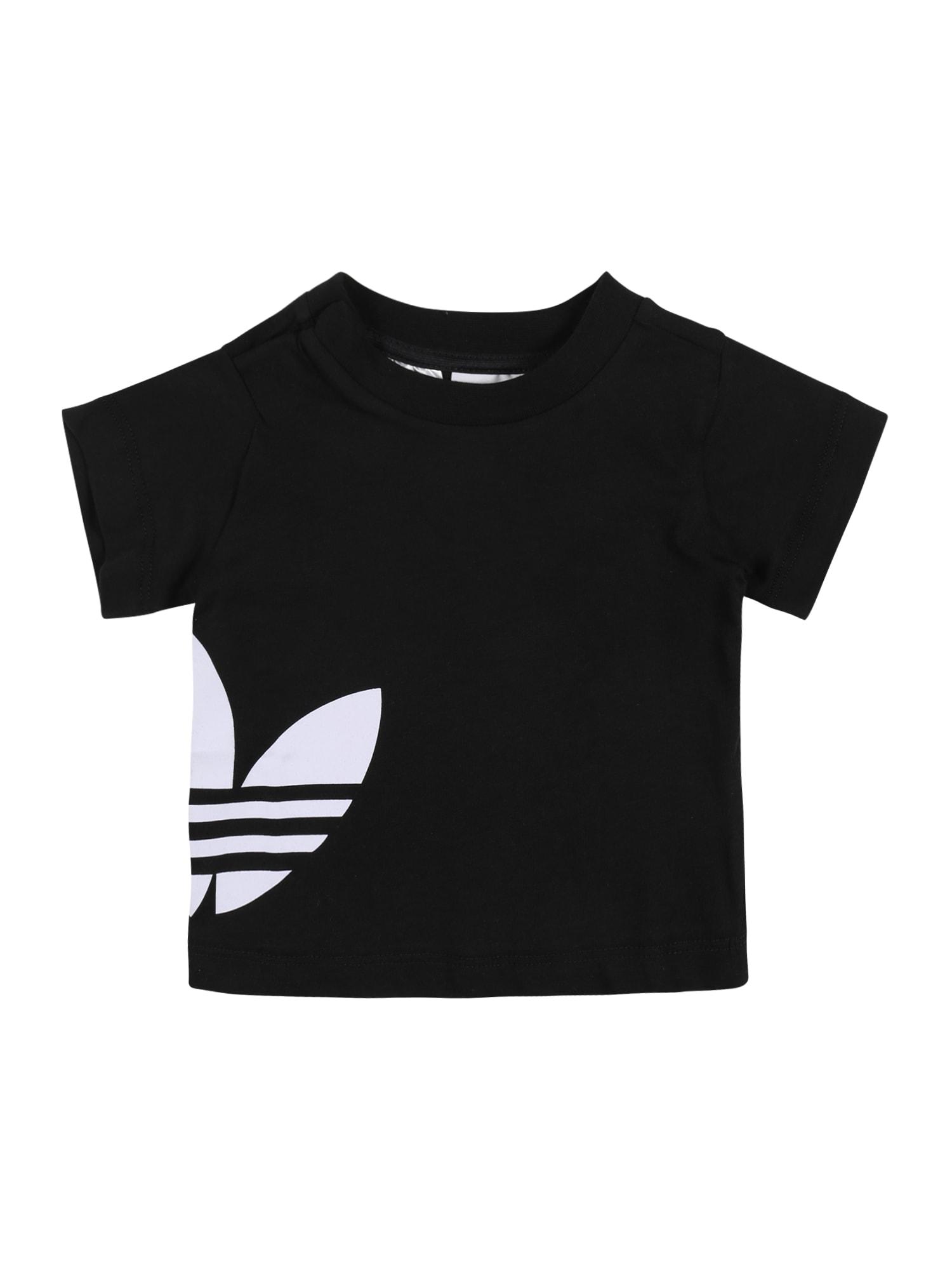 ADIDAS ORIGINALS Marškinėliai 'BIG TREFOIL' balta / juoda
