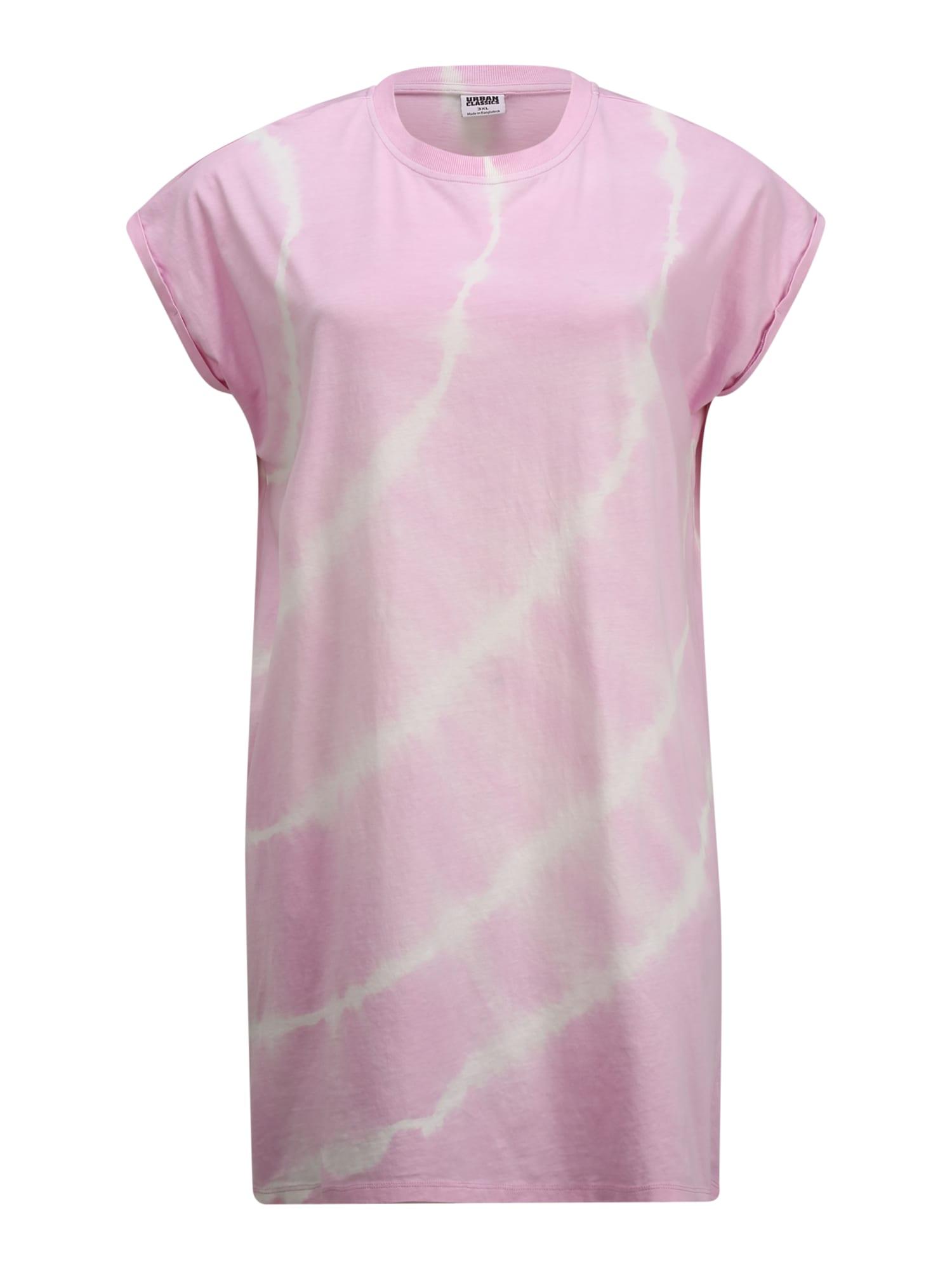 Urban Classics Curvy Šaty 'Tie Dye'  ružová