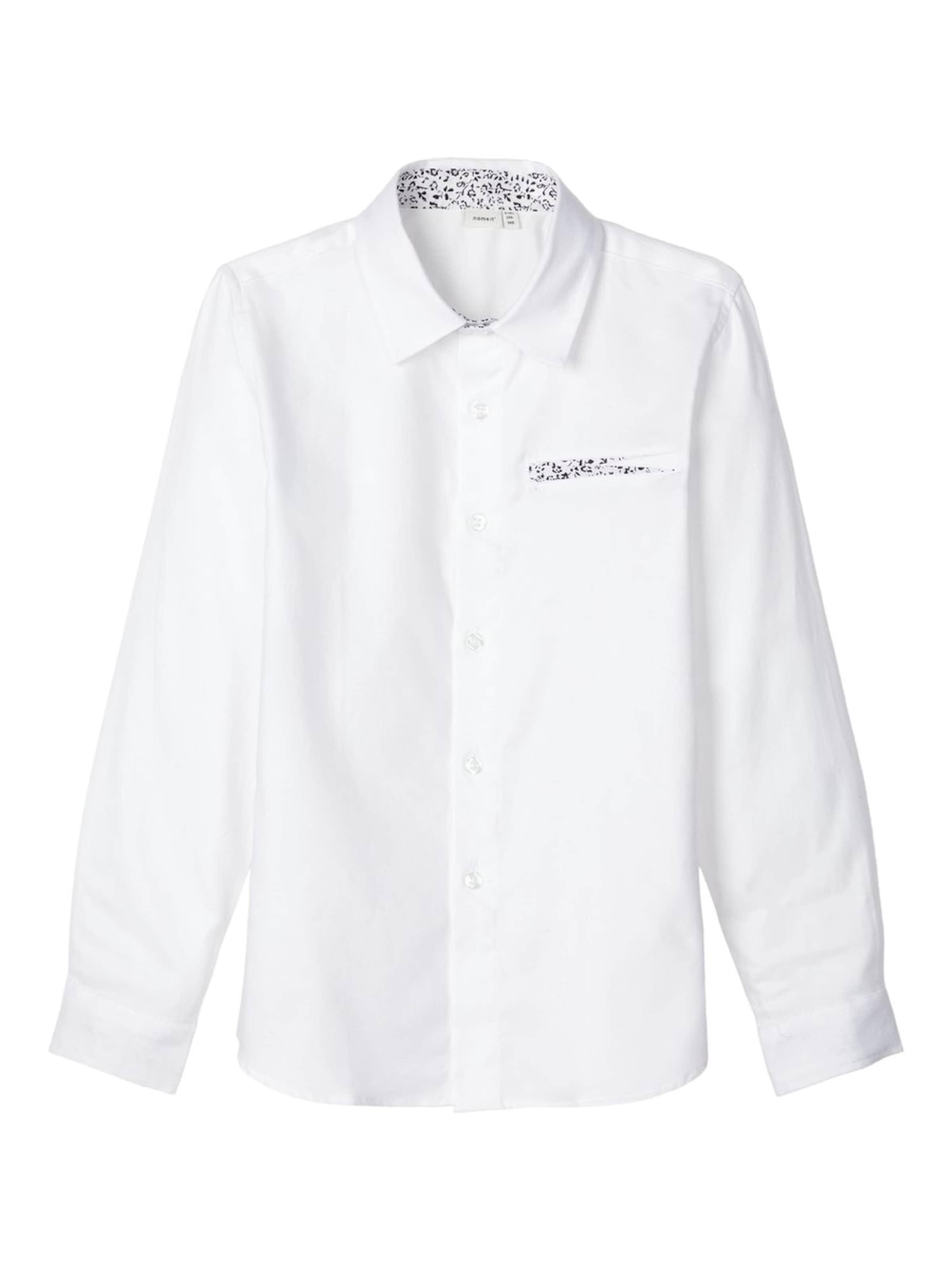 Jungen,  Kinder,  Kinder NAME IT Hemd schwarz,  weiß, weiß | 05714503584688