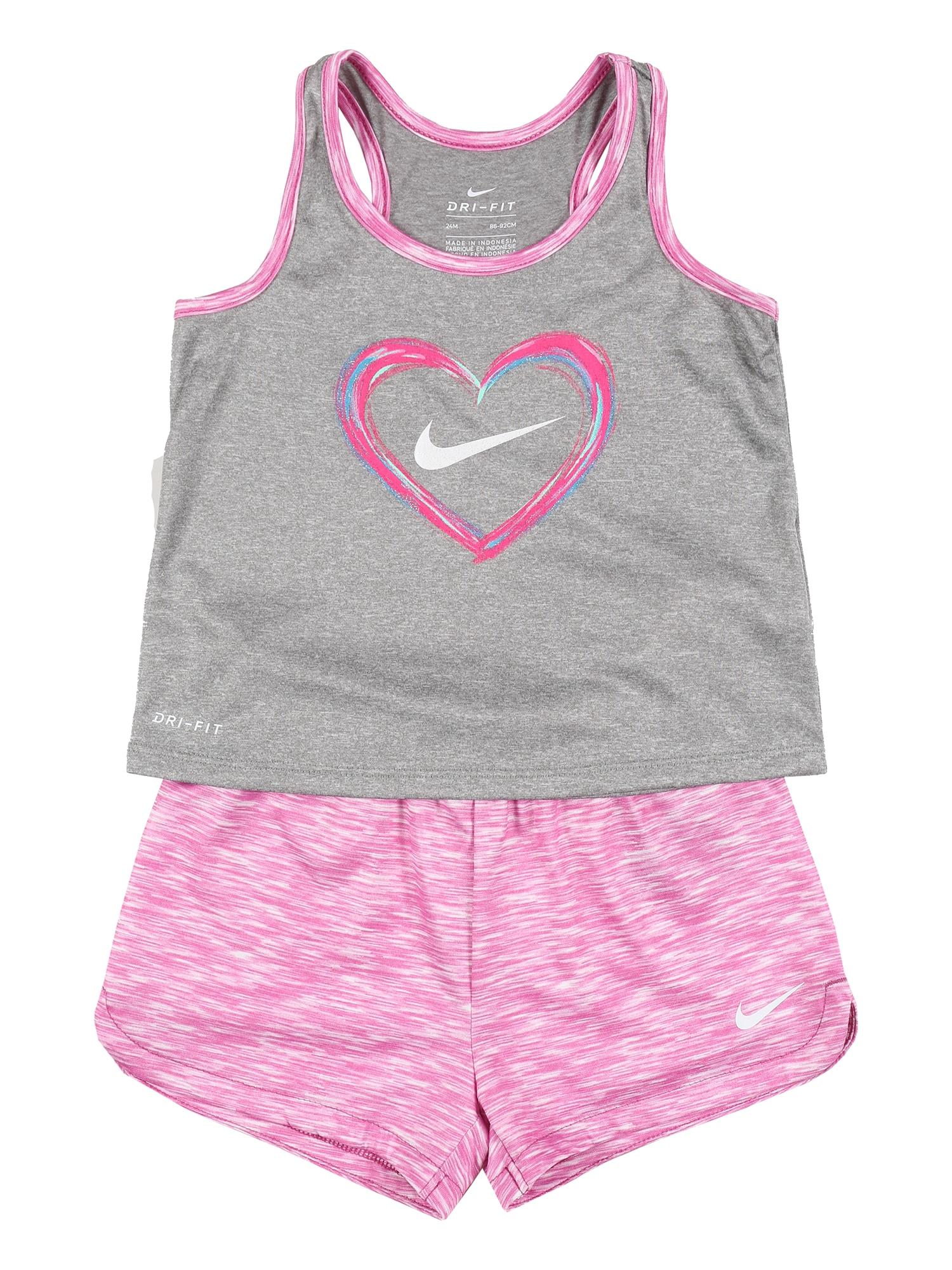 Nike Sportswear Rinkinys 'DF HEART TANK & SPACE-DYE SHORT SET' rožinė