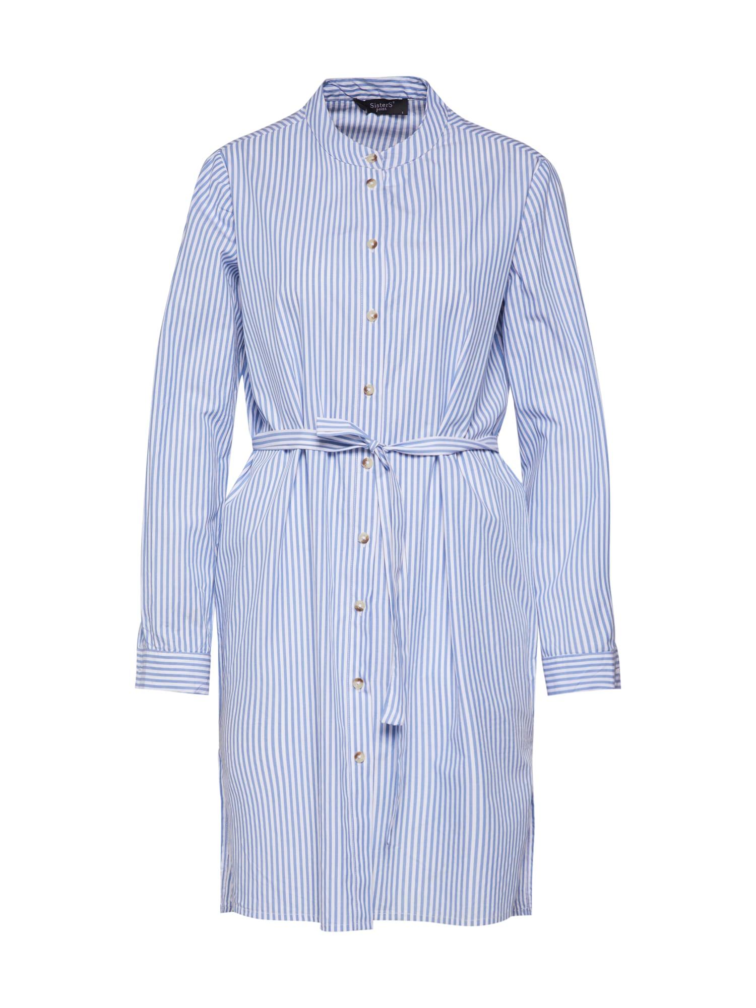 Košilové šaty ADEL-L.SH světlemodrá bílá SISTERS POINT