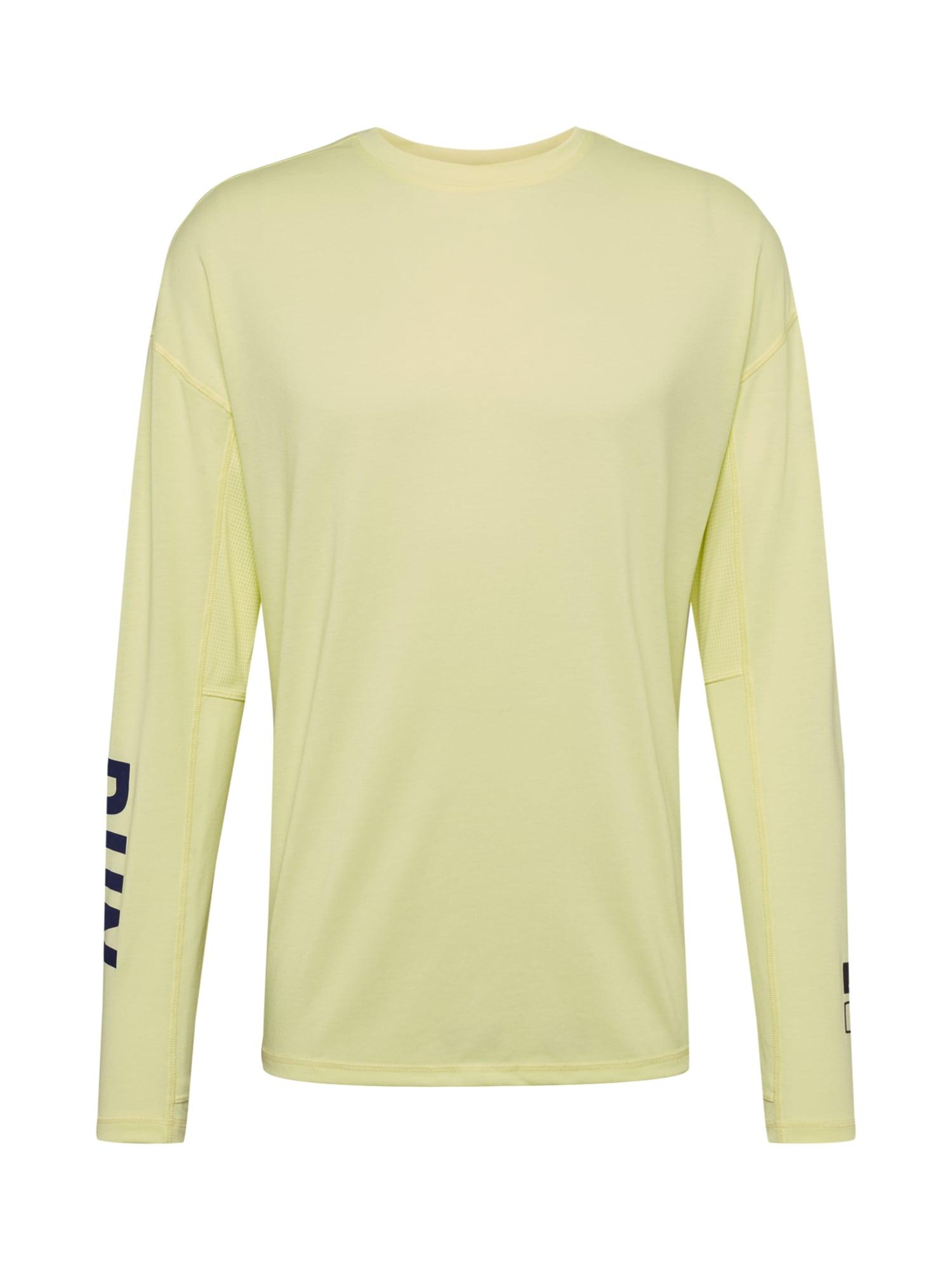 REEBOK Funkčné tričko  čierna / svetložltá
