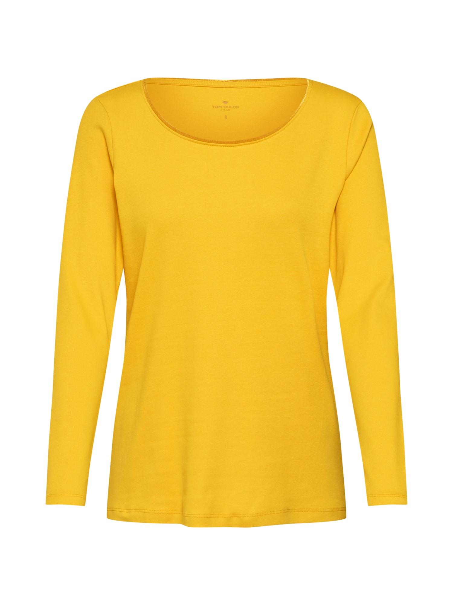 TOM TAILOR Tričko  zlatá žltá