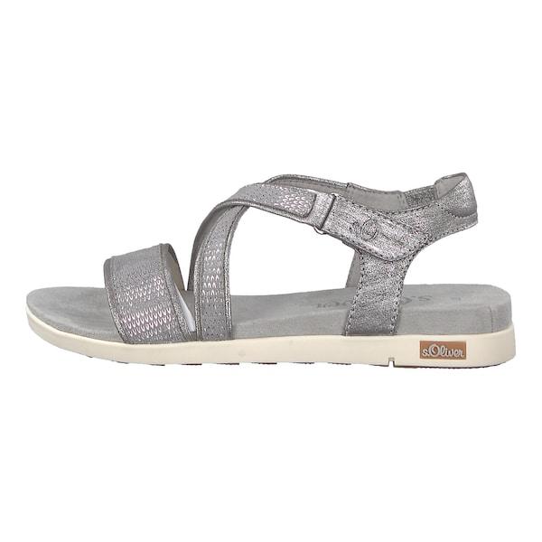 Sandalen für Frauen - S.Oliver RED LABEL Riemchensandalen silber  - Onlineshop ABOUT YOU