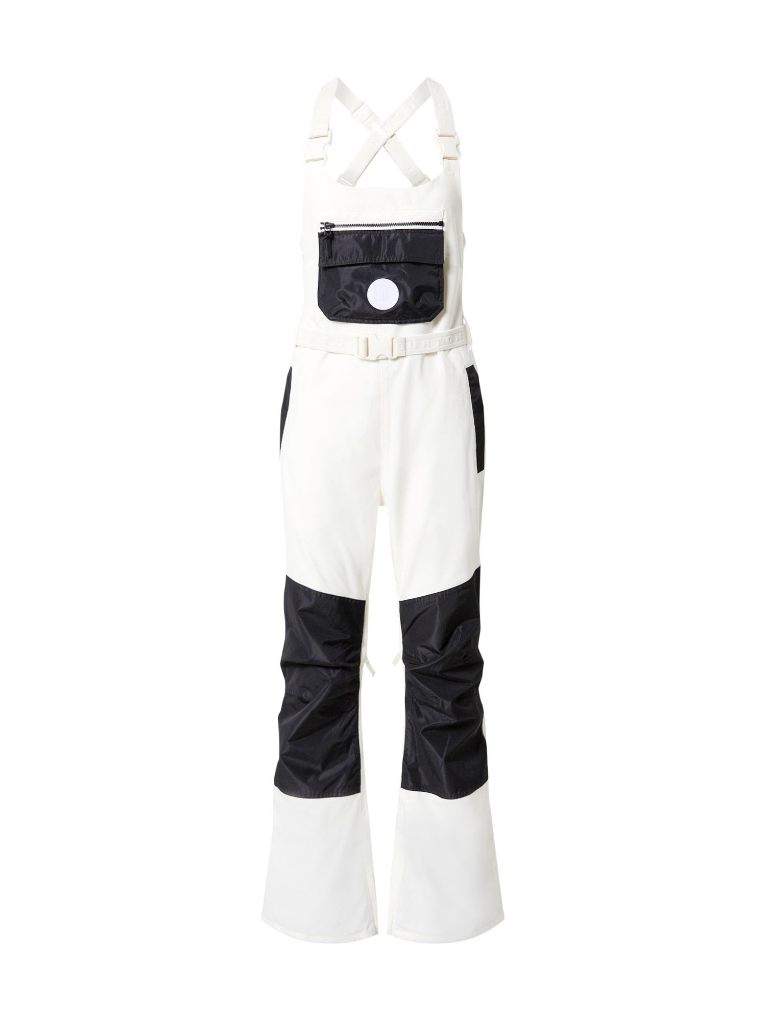 BURTON Outdoorové kalhoty 'Larosa'  bílá / černá