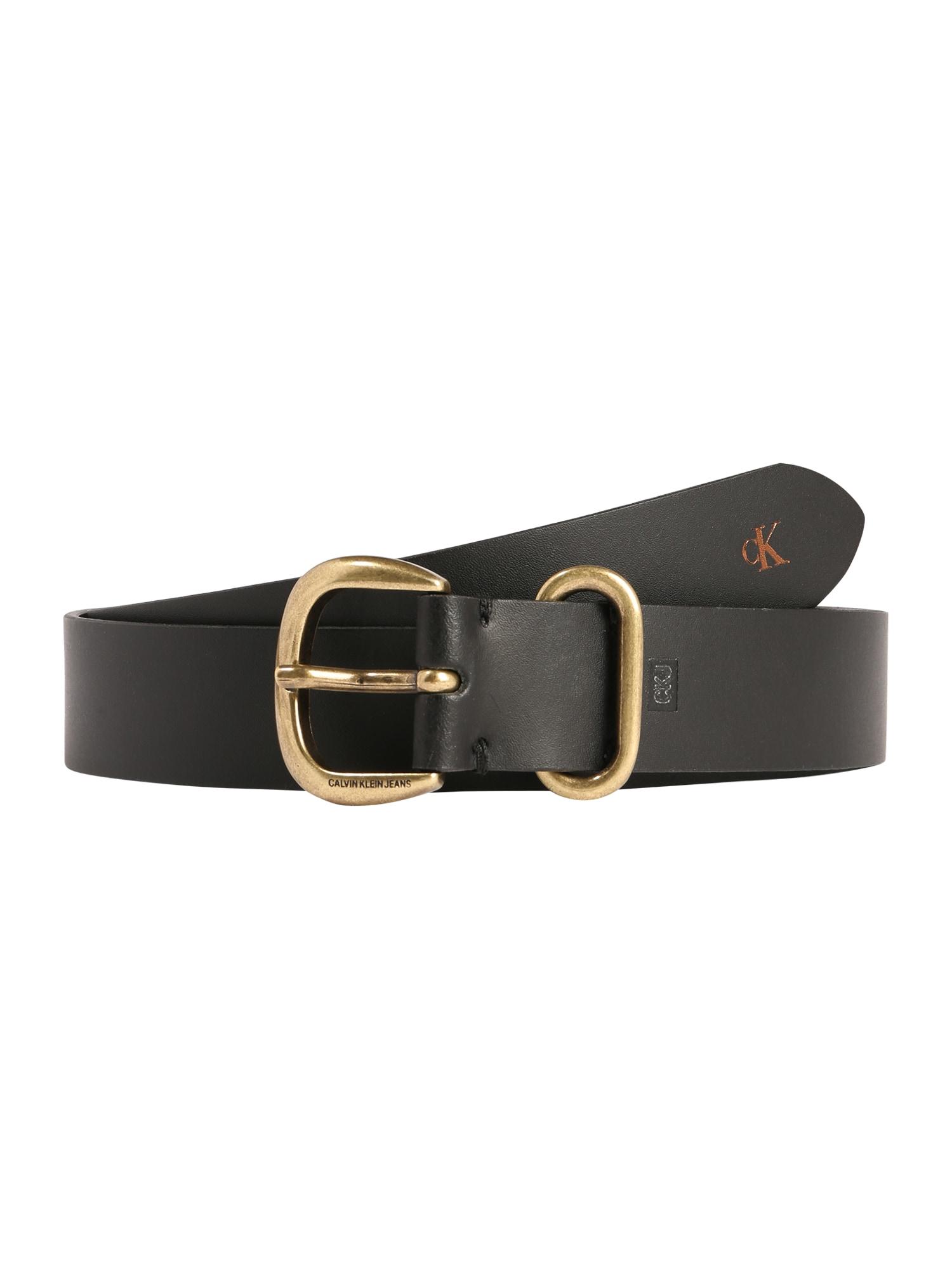 Calvin Klein Jeans Opasky 'CLASSIC 30MM'  čierna