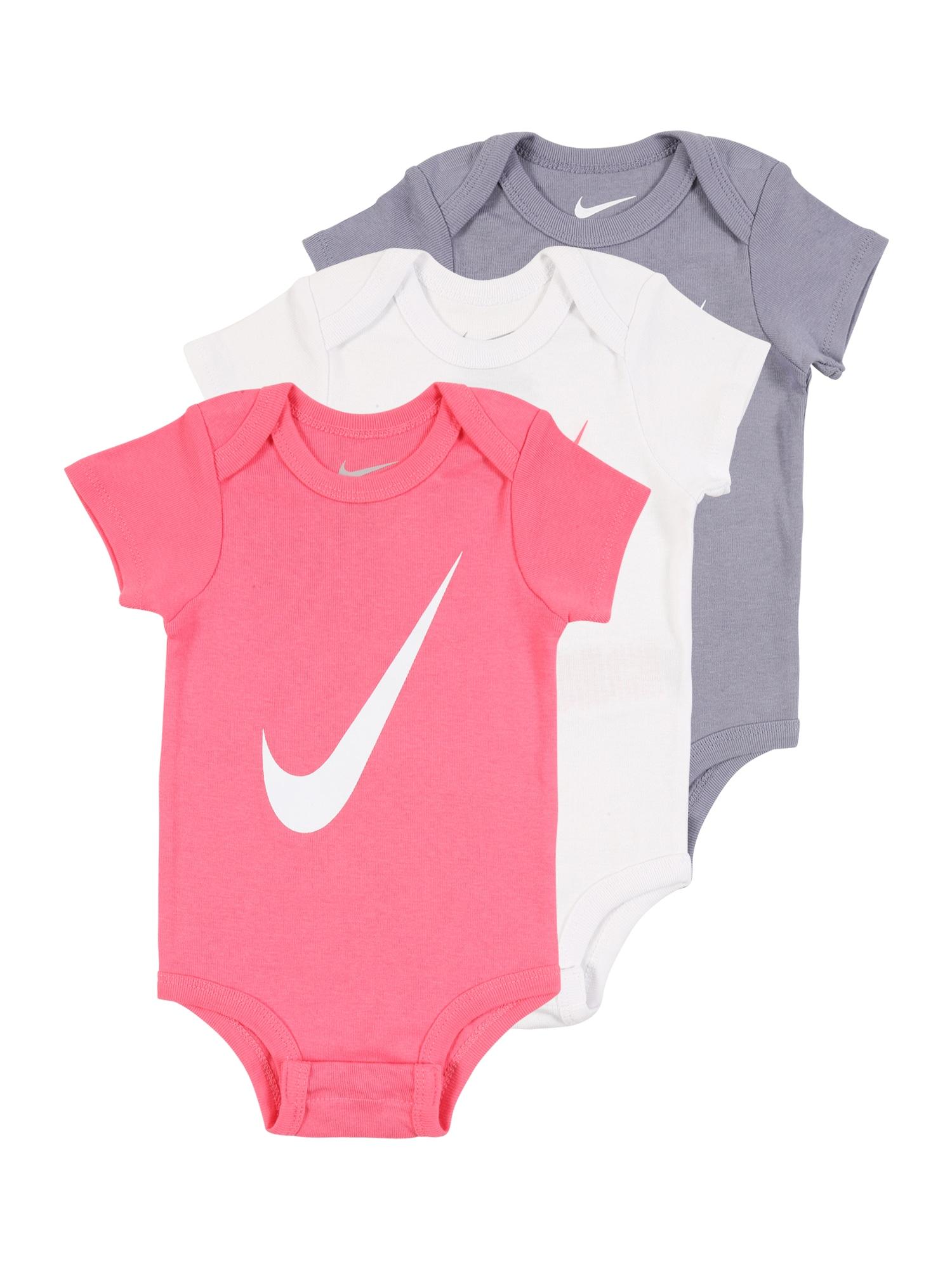 Nike Sportswear Šliaužtinukas / glaustinukė rožinė / pilka / balta