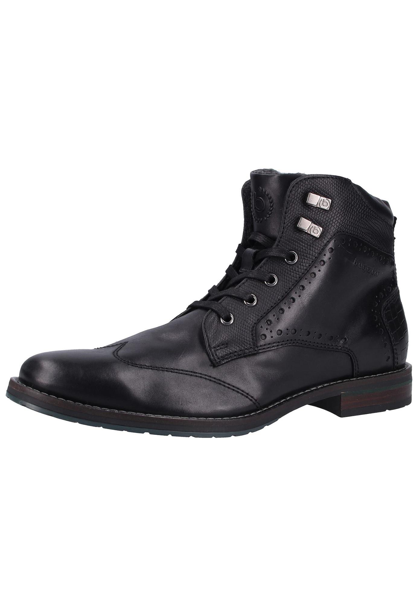 bugatti Auliniai batai su raišteliais juoda