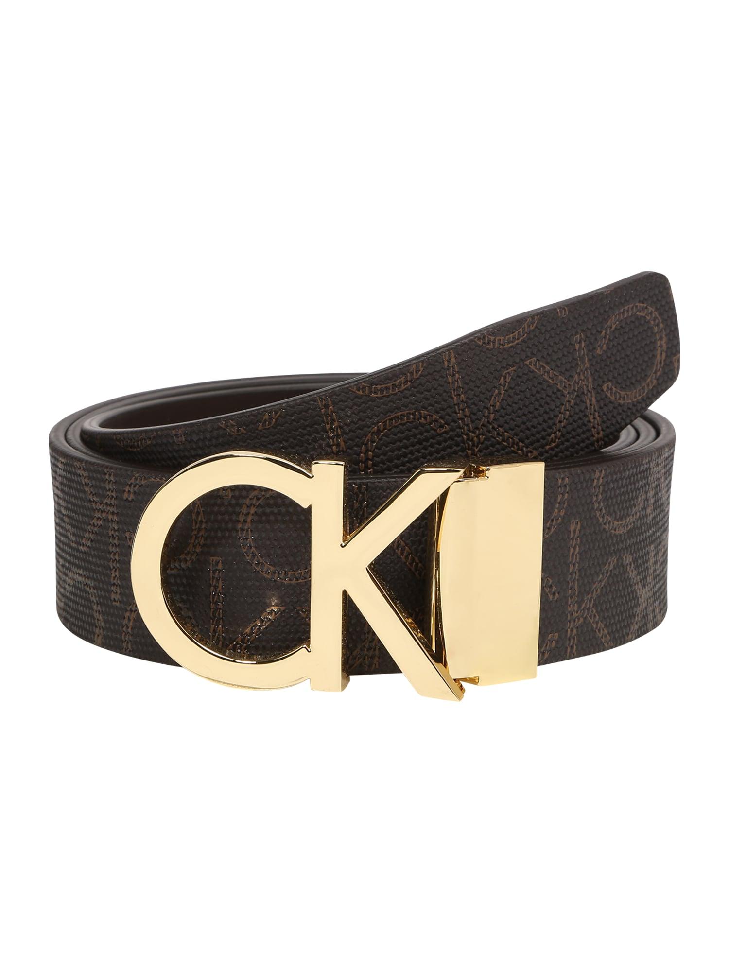 Calvin Klein Diržas 'NEW MONO 3.5CM' ruda / auksas