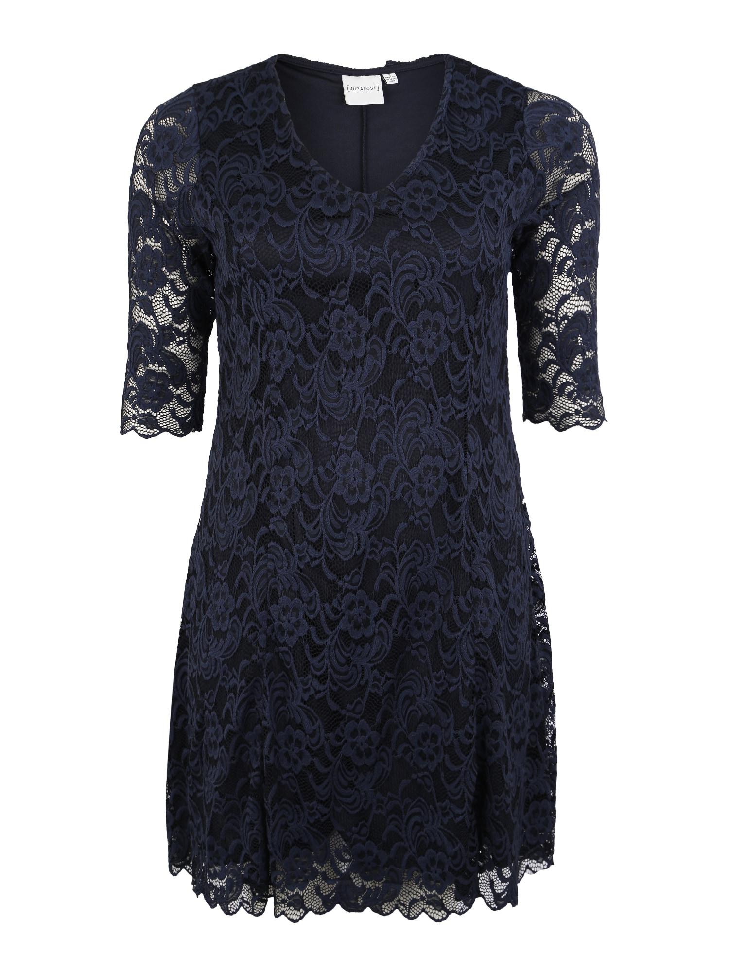 Junarose Kokteilinė suknelė 'JRNEWEMMA 3/4 SL ABOVE KNEE DRESS' tamsiai mėlyna