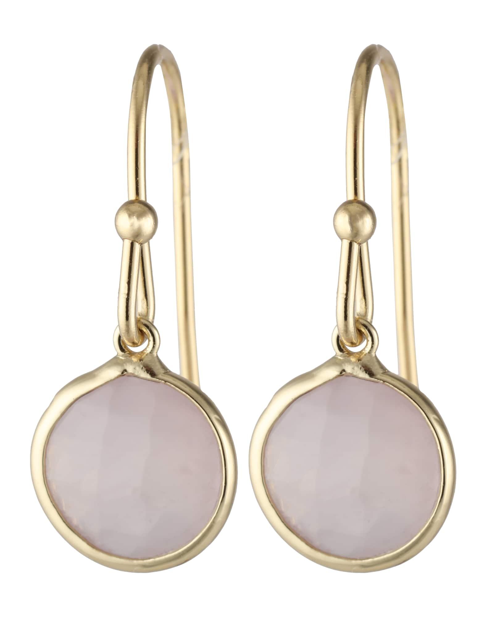 Ohrringe für Frauen - Orelia Vergoldete Ohrhänger gold rosa  - Onlineshop ABOUT YOU